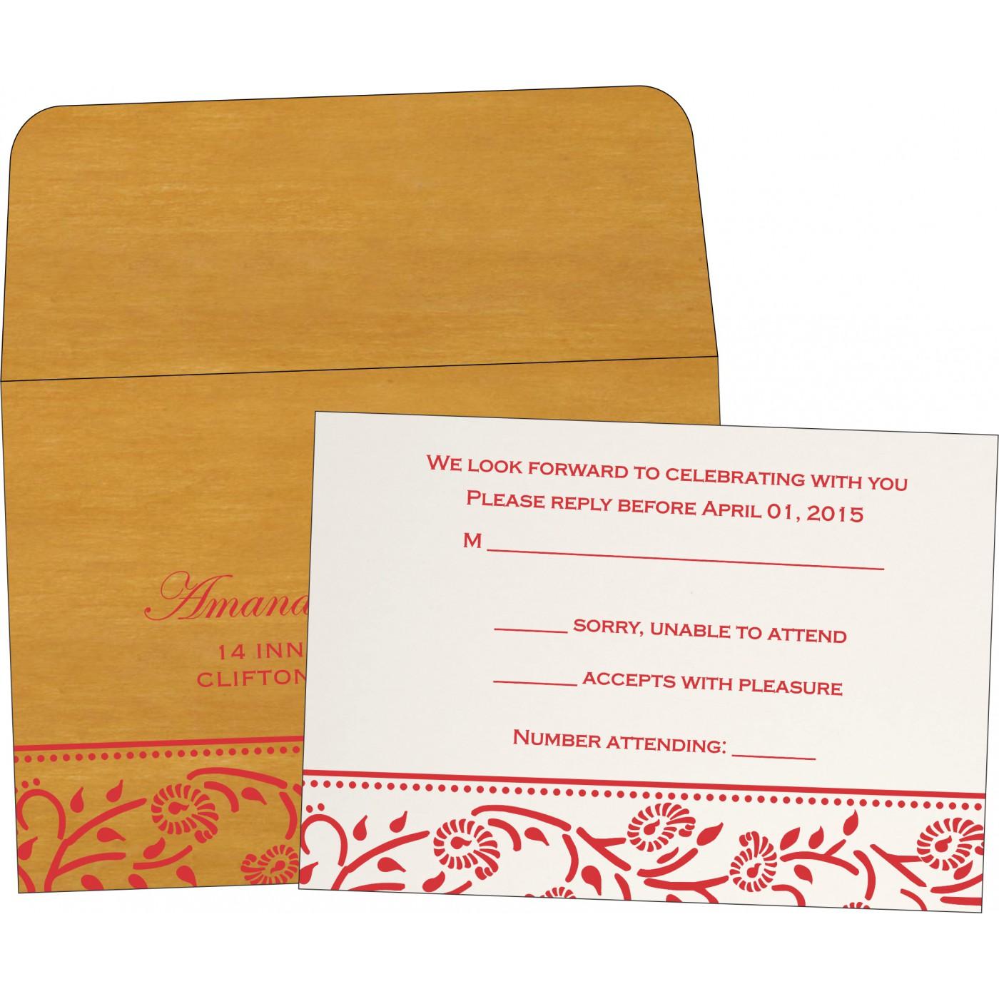 RSVP Cards : RSVP-8206H - 123WeddingCards