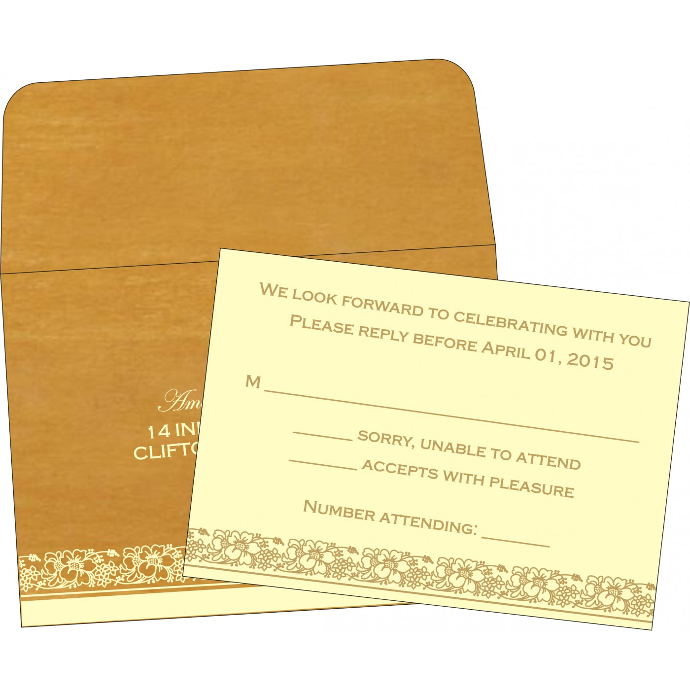 RSVP Cards : RSVP-8207F - 123WeddingCards