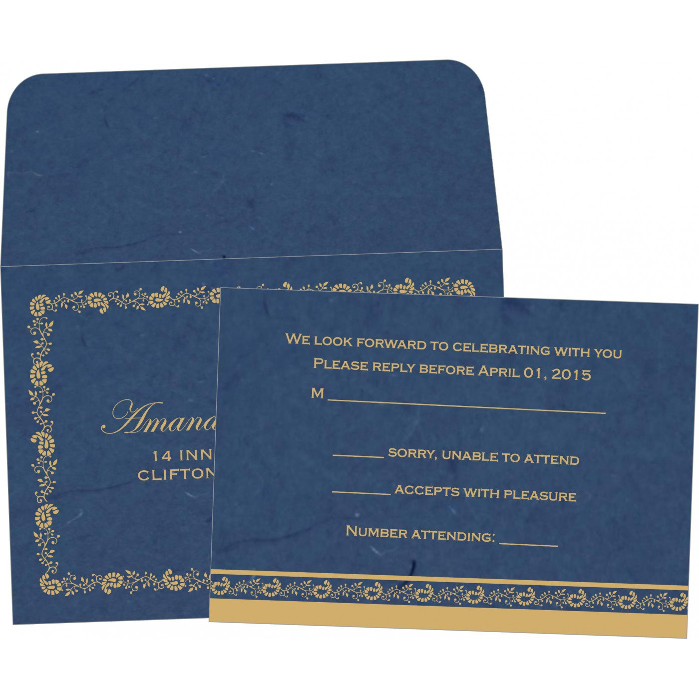 RSVP Cards : RSVP-8208B - 123WeddingCards