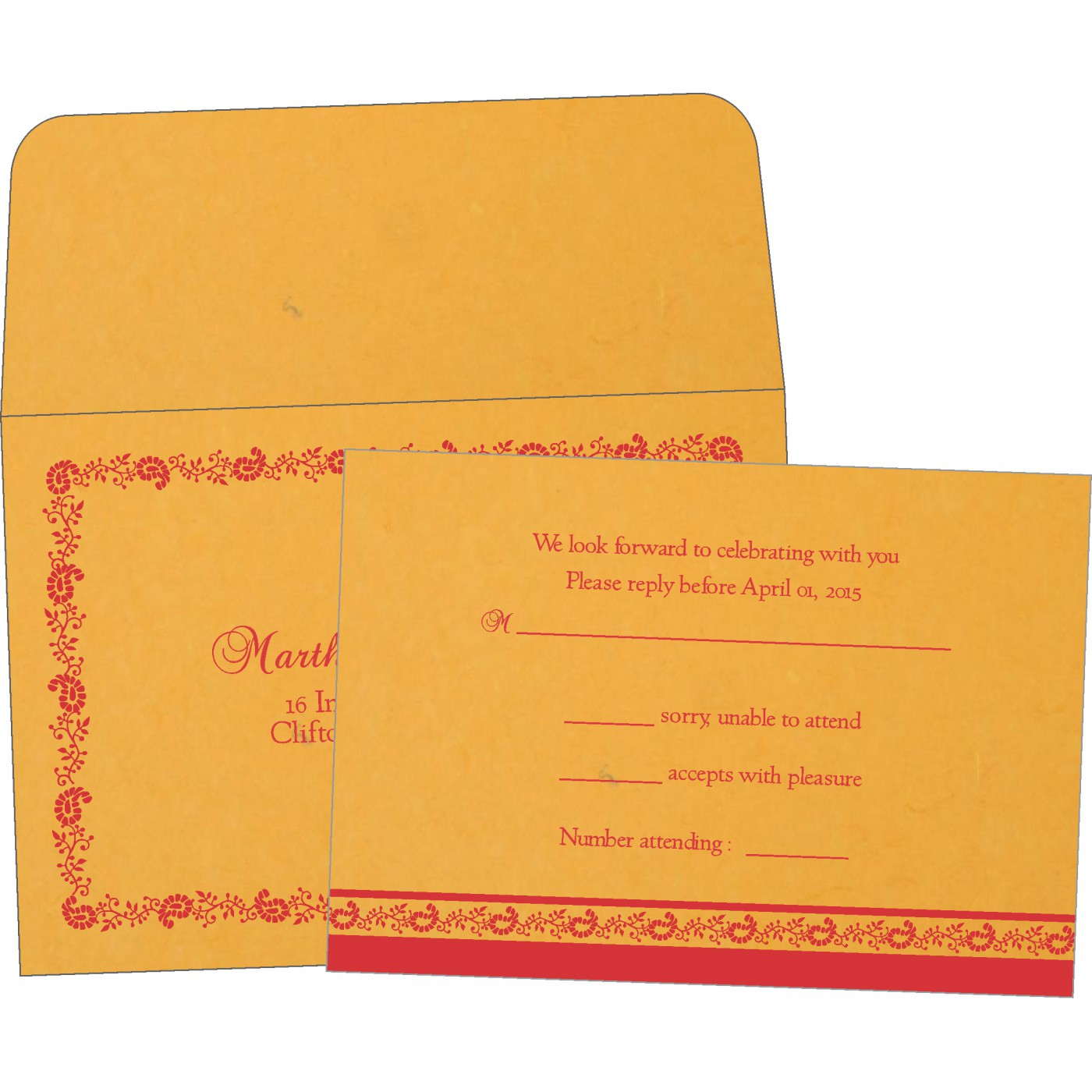 RSVP Cards : RSVP-8208C - 123WeddingCards