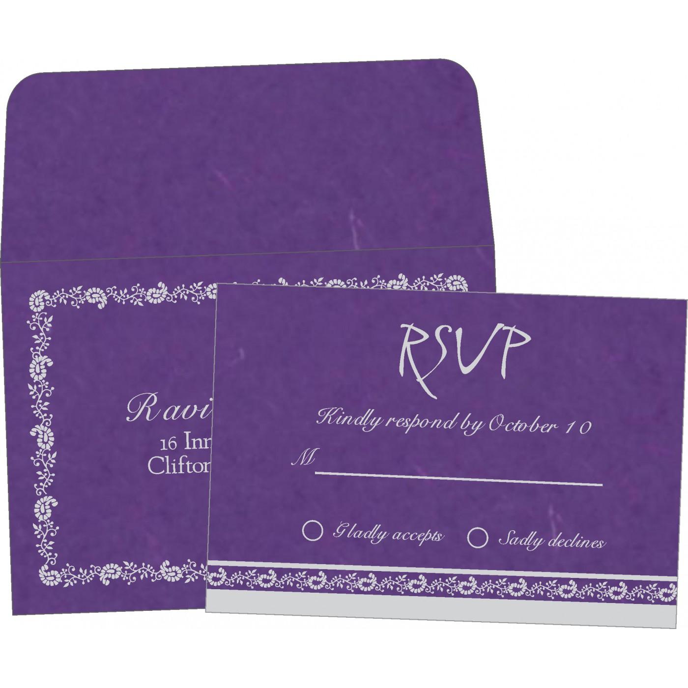 RSVP Cards : RSVP-8208D - 123WeddingCards