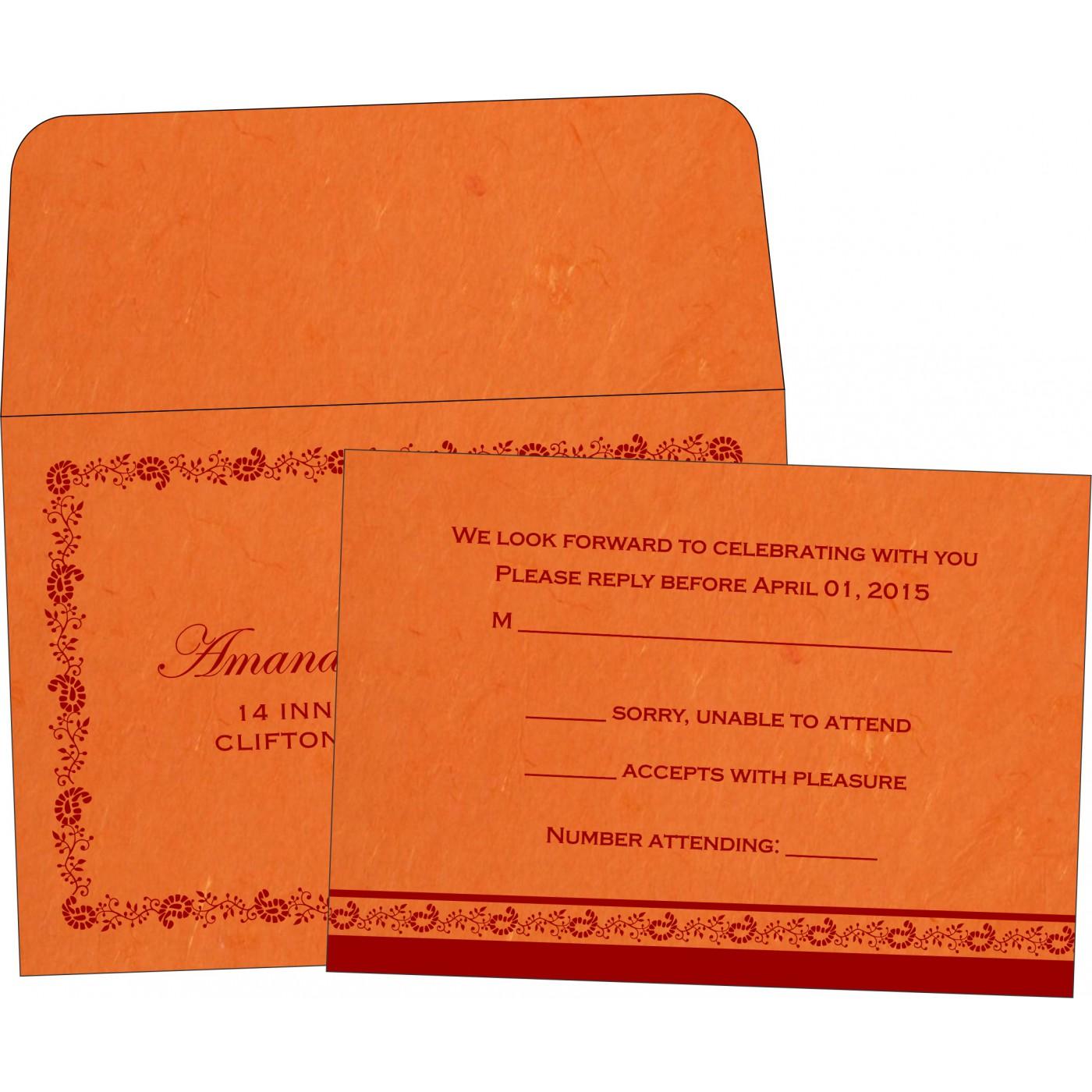 RSVP Cards : RSVP-8208G - 123WeddingCards