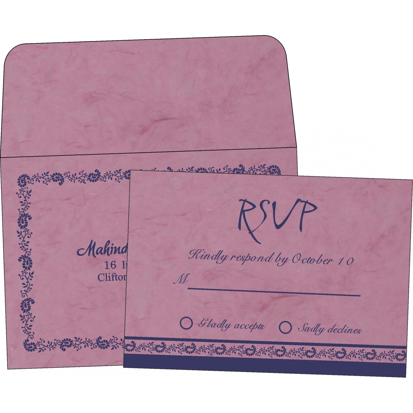 RSVP Cards : RSVP-8208J - 123WeddingCards