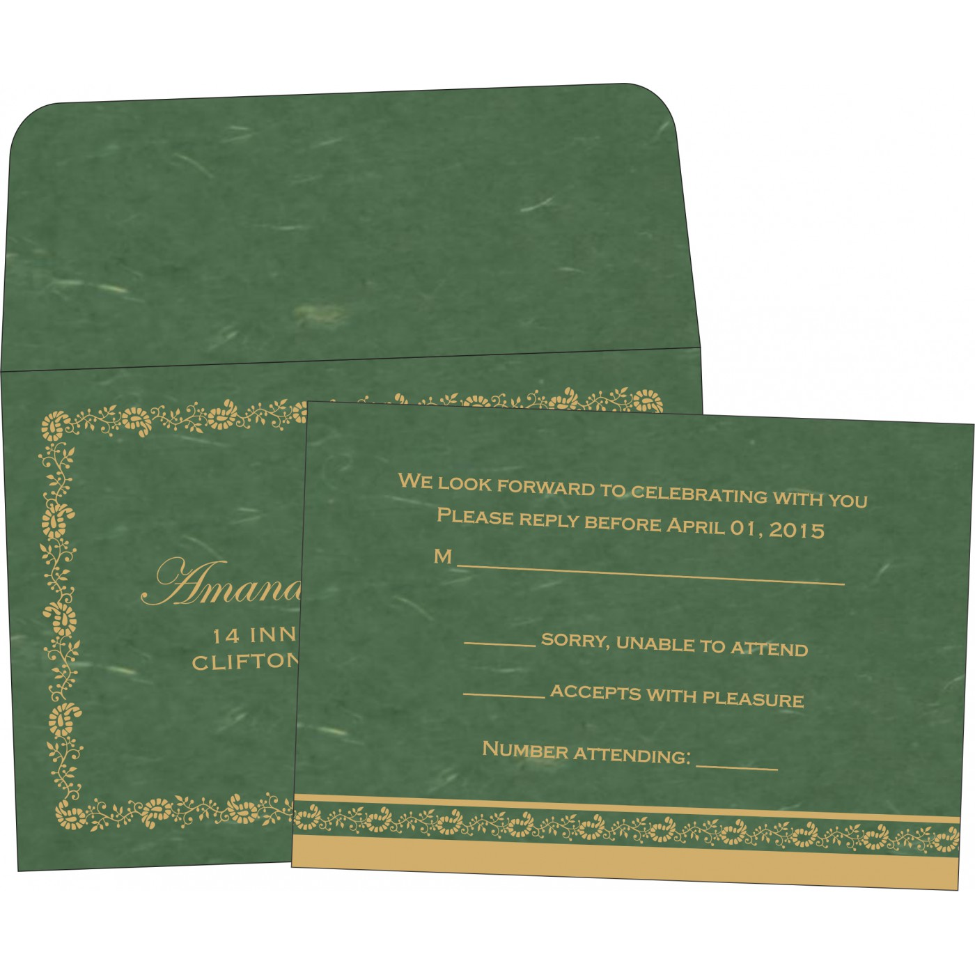 RSVP Cards : RSVP-8208L - 123WeddingCards