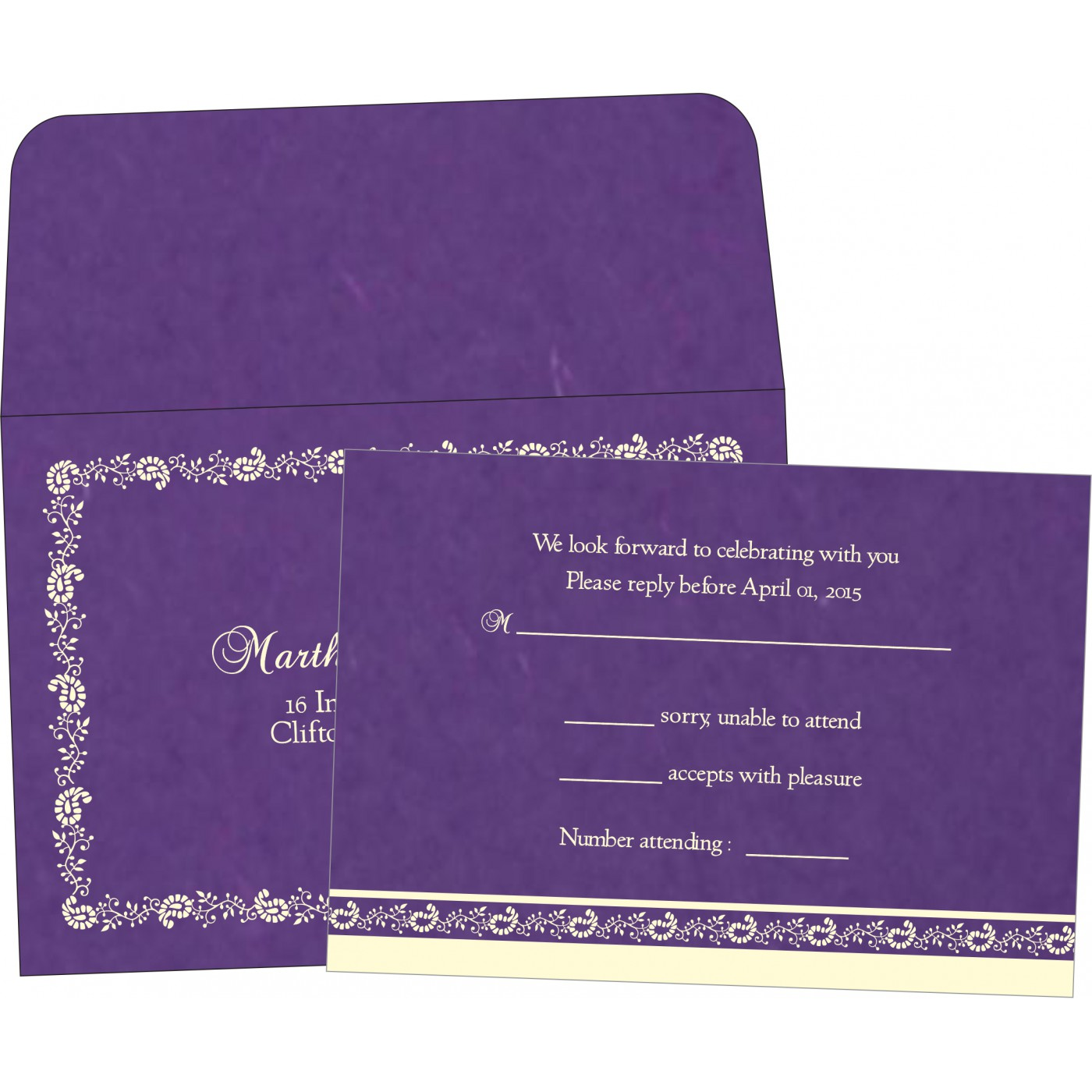 RSVP Cards : RSVP-8208M - 123WeddingCards