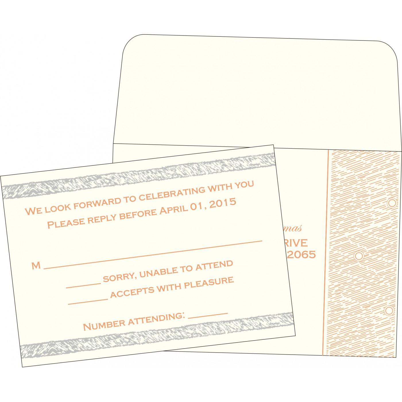 RSVP Cards : RSVP-8209A - 123WeddingCards