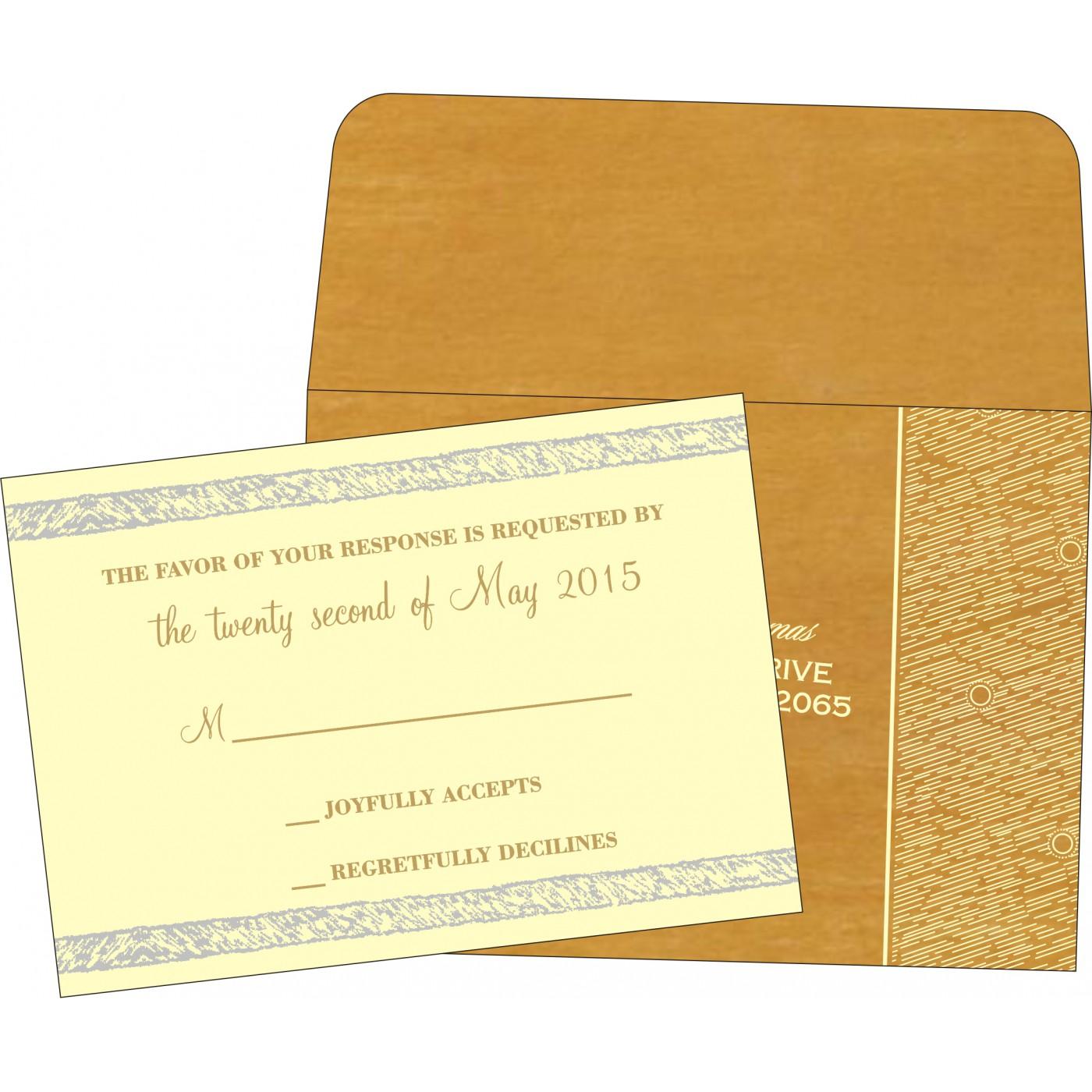 RSVP Cards : RSVP-8209B - 123WeddingCards