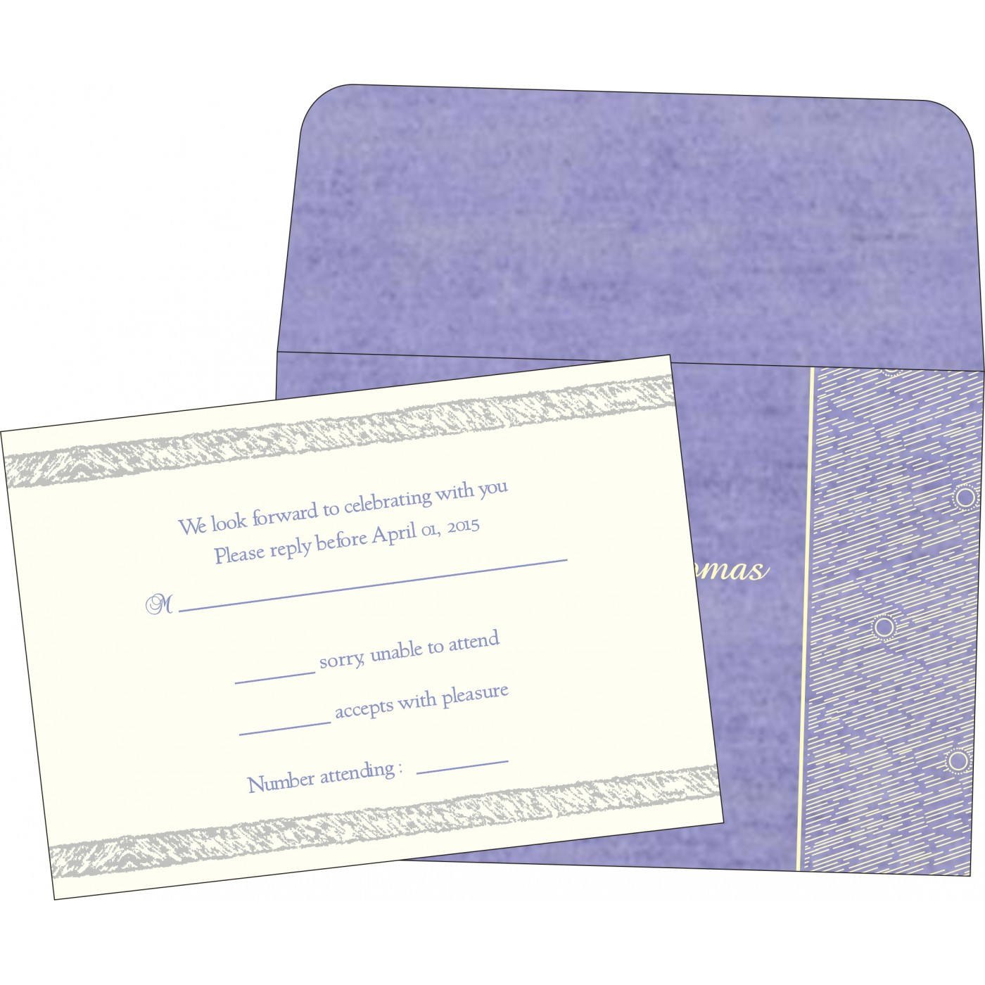 RSVP Cards : RSVP-8209C - 123WeddingCards