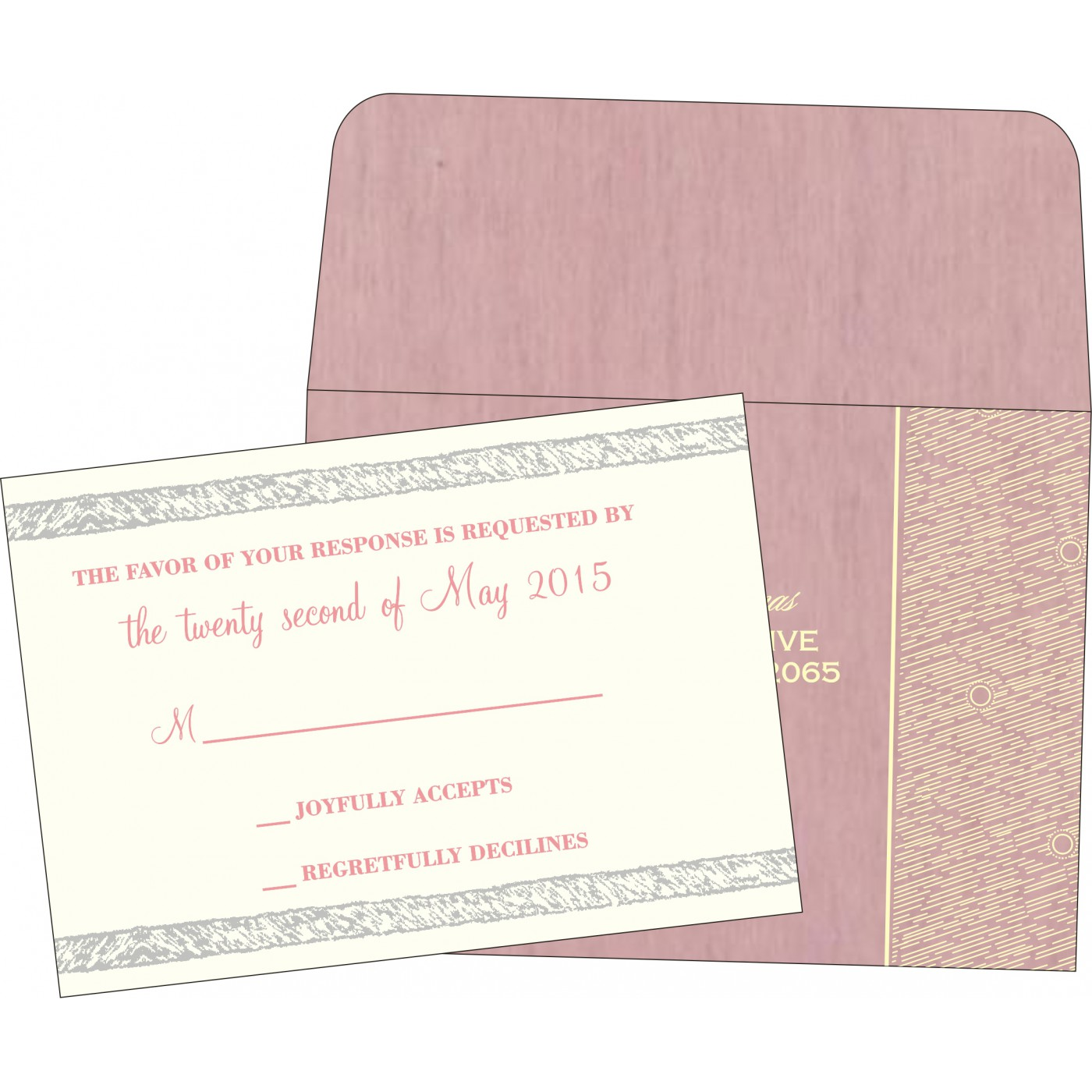RSVP Cards : RSVP-8209H - 123WeddingCards