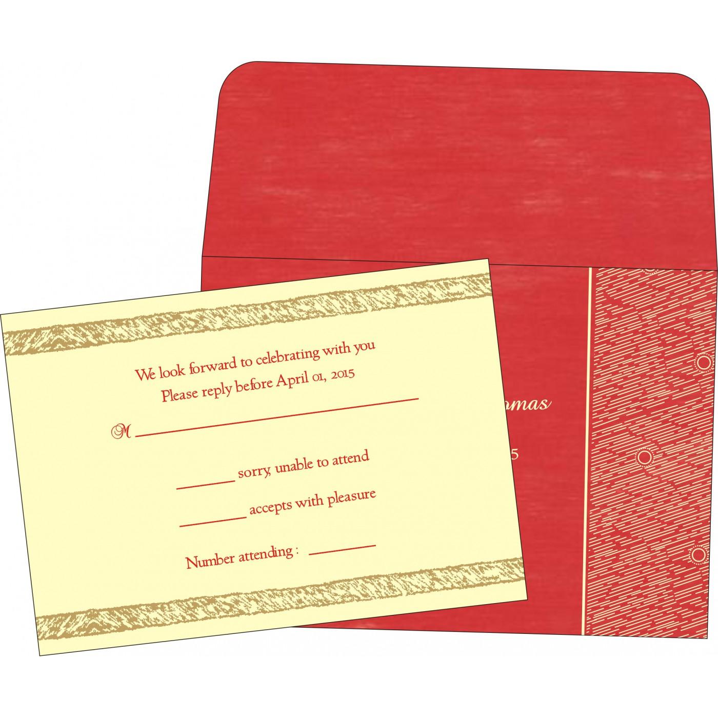RSVP Cards : RSVP-8209I - 123WeddingCards