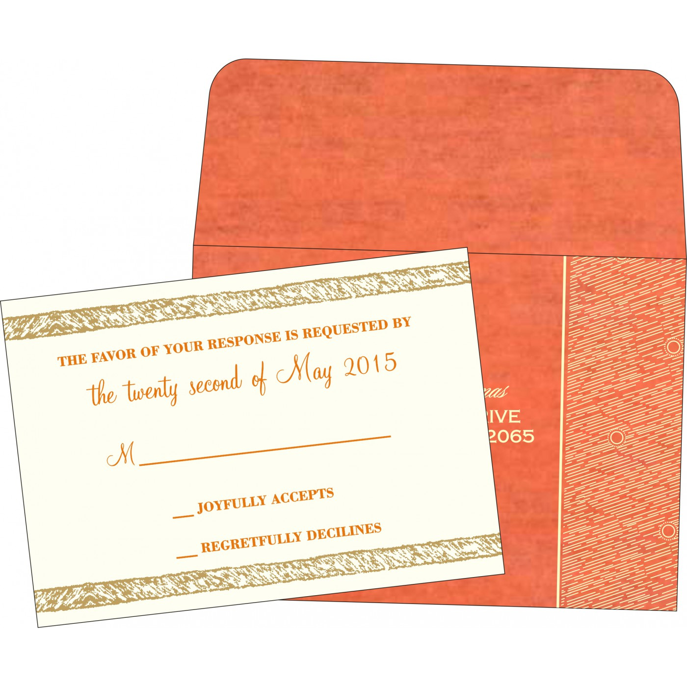 RSVP Cards : RSVP-8209M - 123WeddingCards
