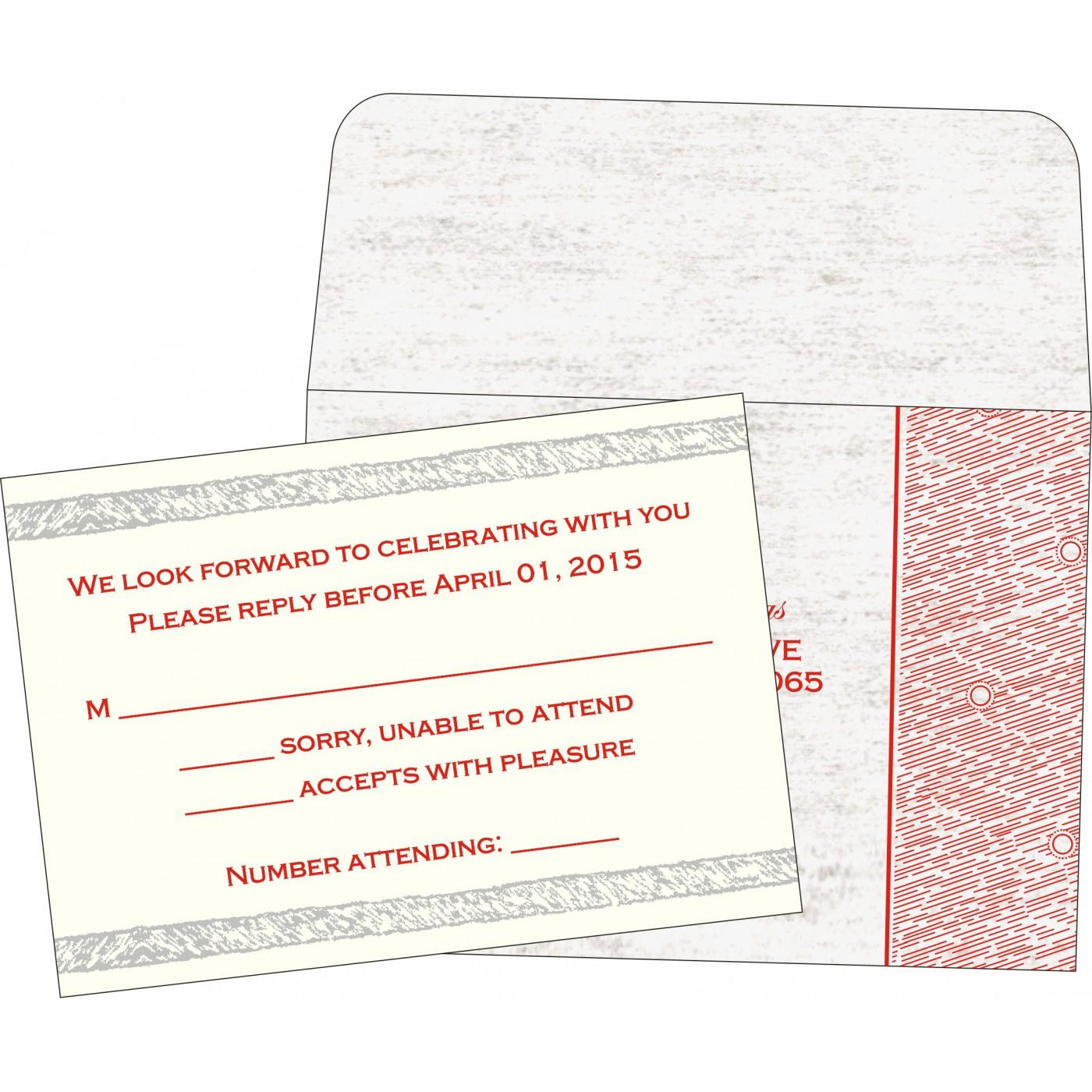 RSVP Cards : RSVP-8209N - 123WeddingCards