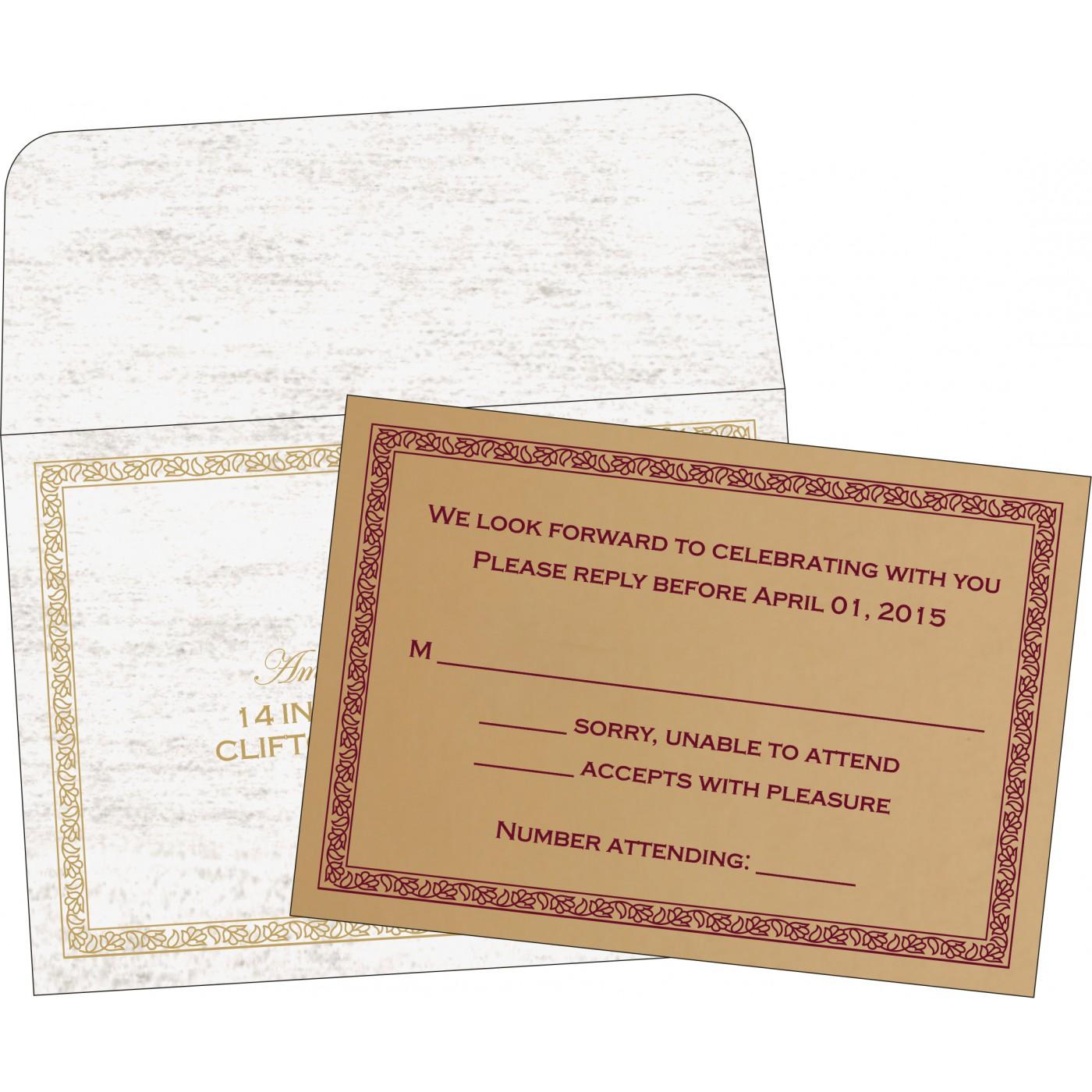 RSVP Cards : RSVP-8211A - 123WeddingCards