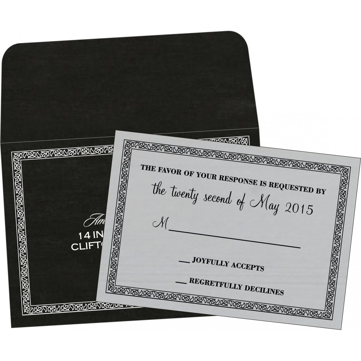 RSVP Cards : RSVP-8211B - 123WeddingCards