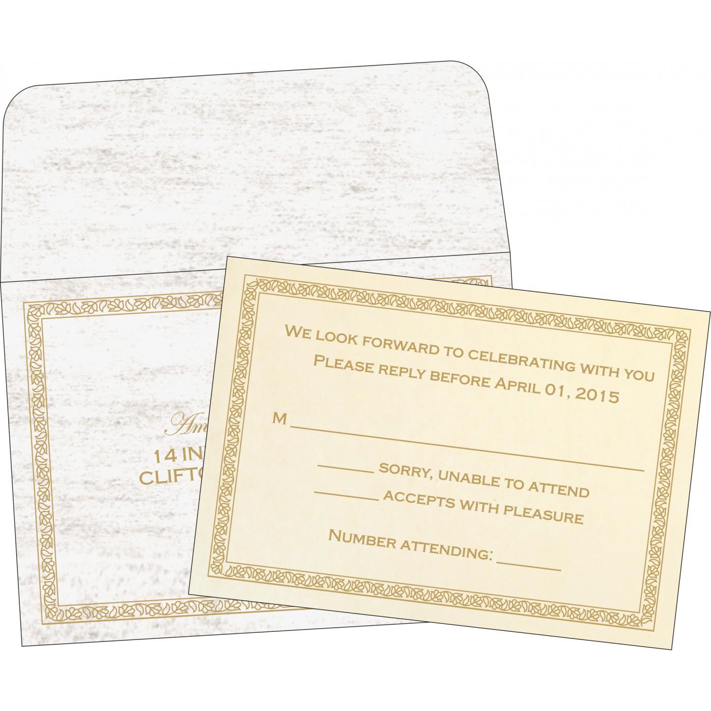 RSVP Cards : RSVP-8211G - 123WeddingCards