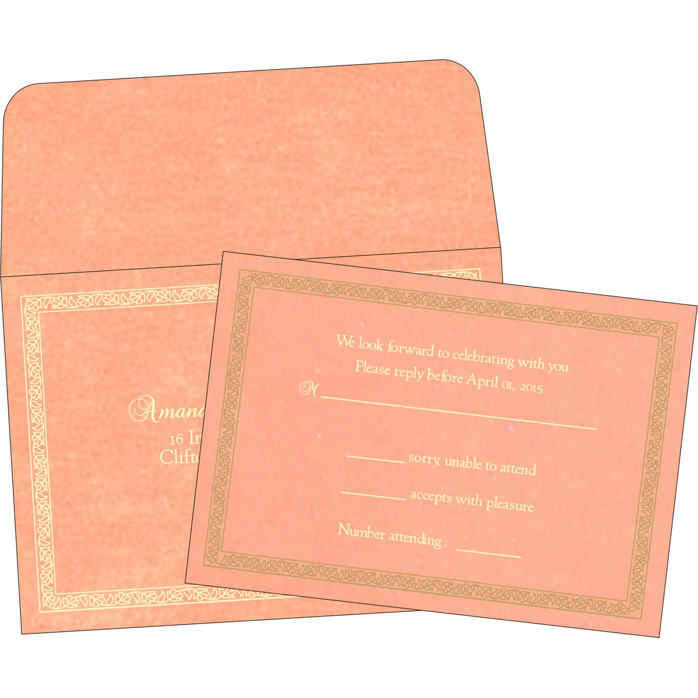 RSVP Cards : RSVP-8211J - 123WeddingCards