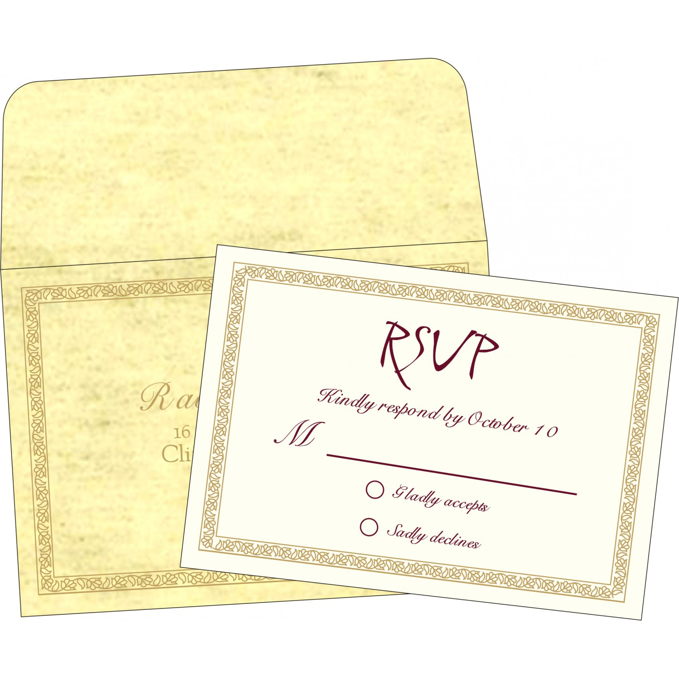 RSVP Cards : RSVP-8211K - 123WeddingCards