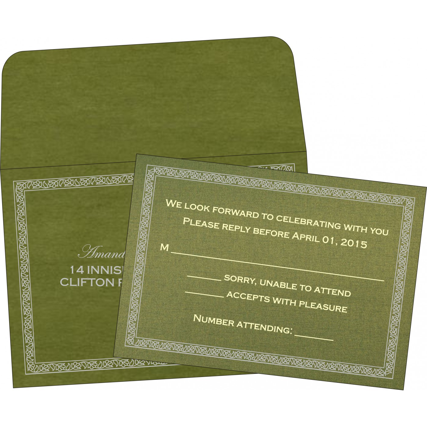 RSVP Cards : RSVP-8211M - 123WeddingCards