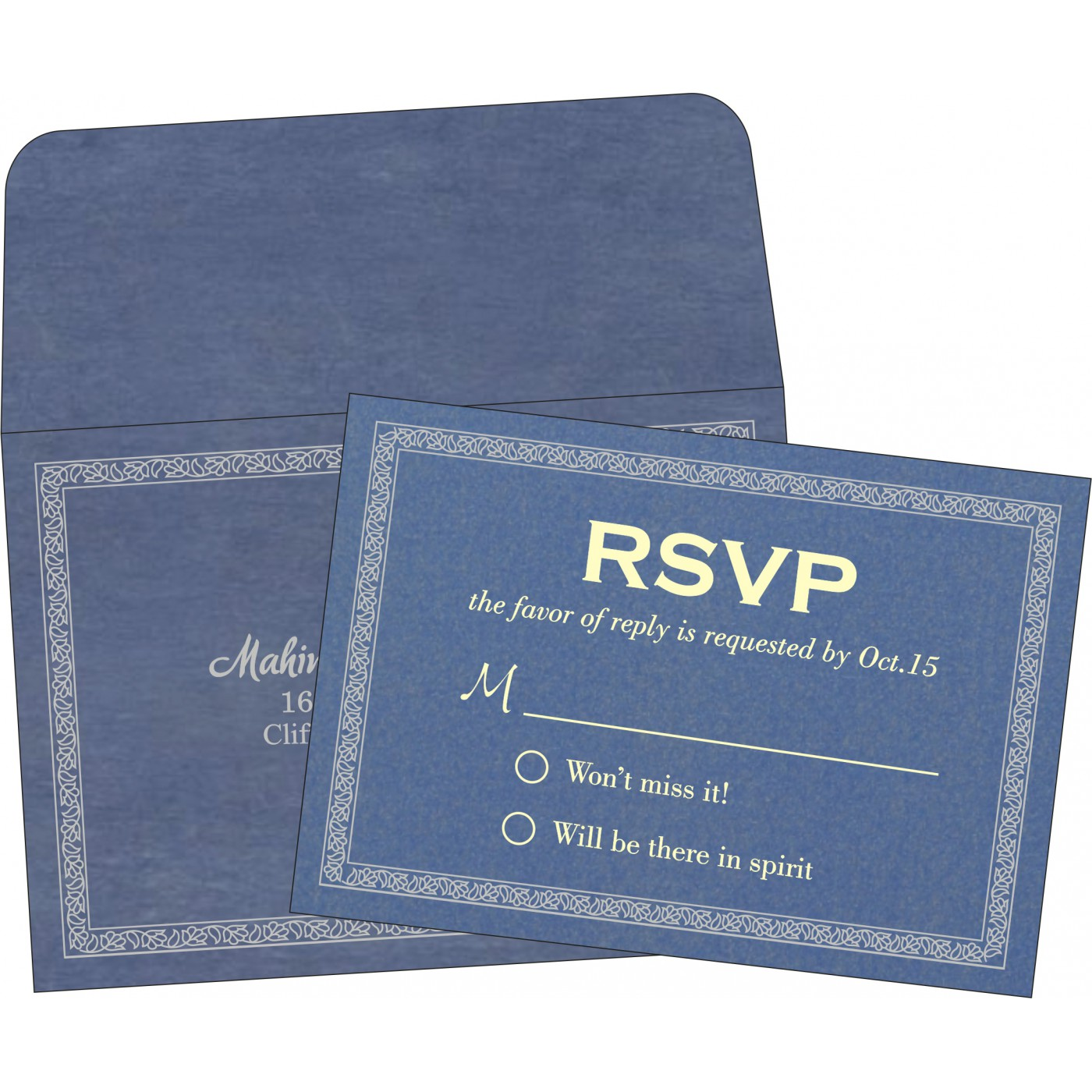 RSVP Cards : RSVP-8211P - 123WeddingCards