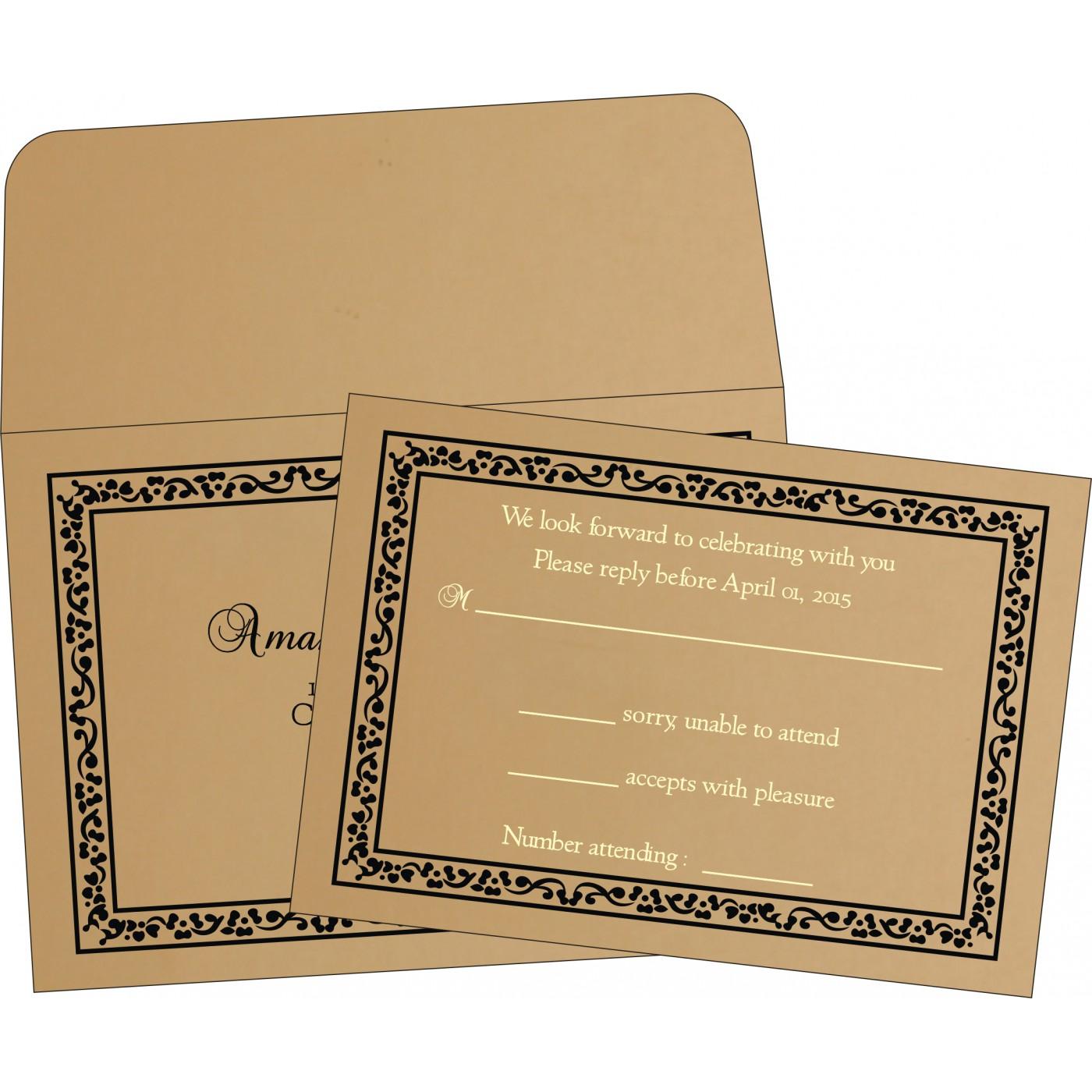 RSVP Cards : RSVP-8214D - 123WeddingCards