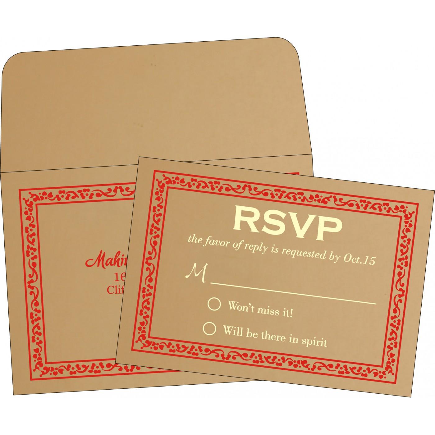 RSVP Cards : RSVP-8214F - 123WeddingCards