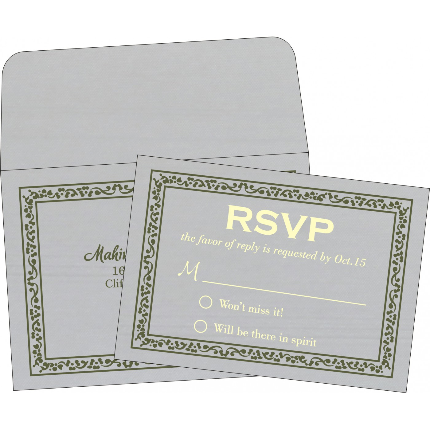 RSVP Cards : RSVP-8214L - 123WeddingCards