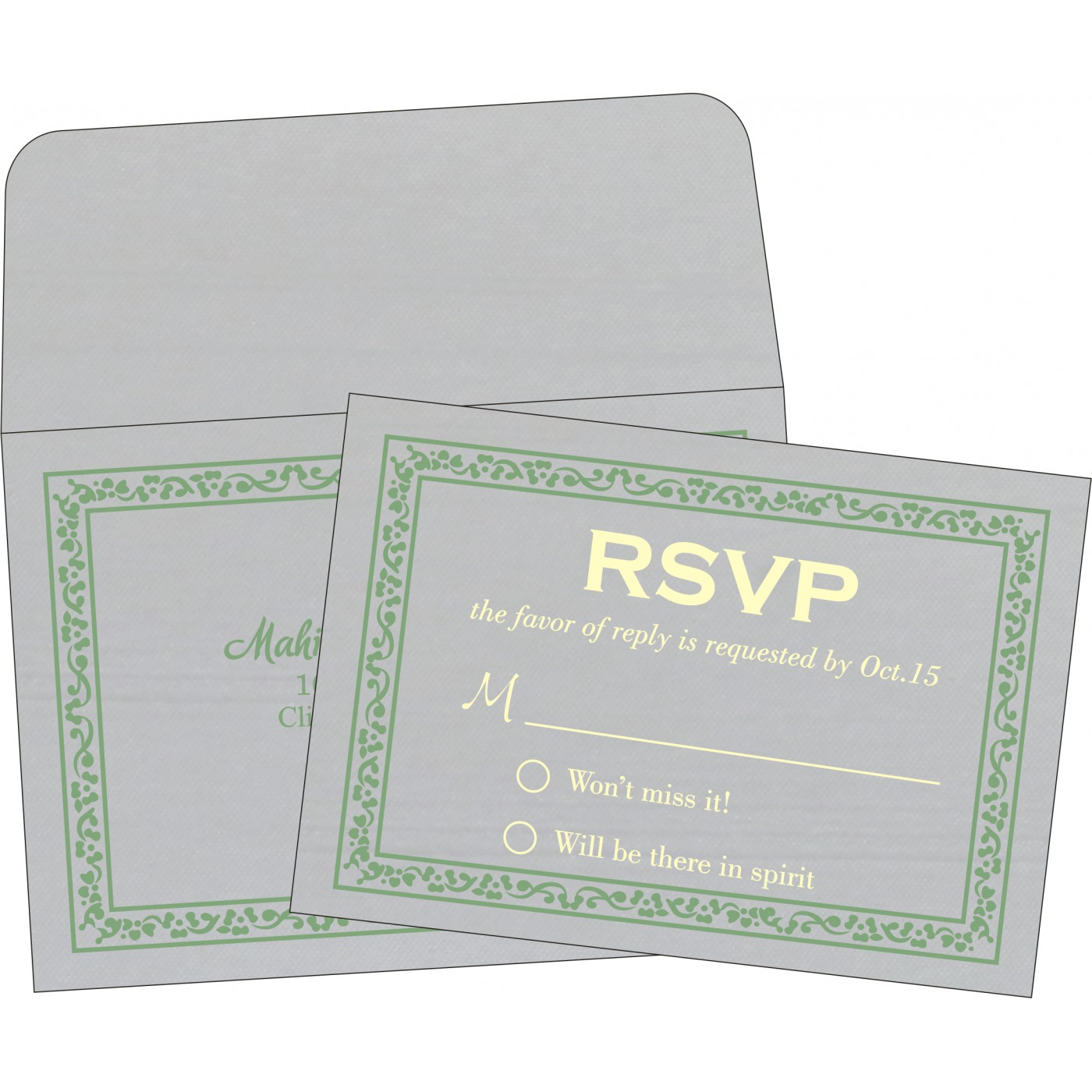 RSVP Cards : RSVP-8214P - 123WeddingCards