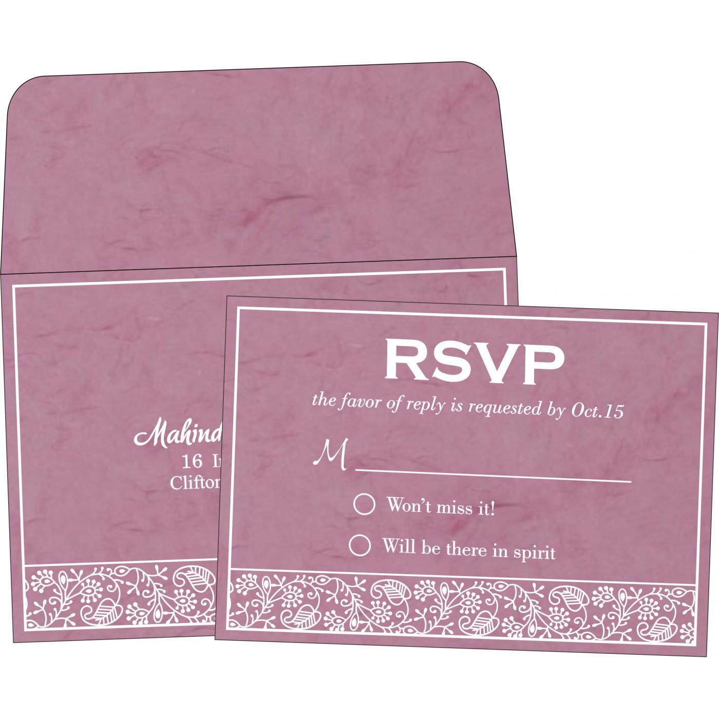 RSVP Cards : RSVP-8215J - 123WeddingCards