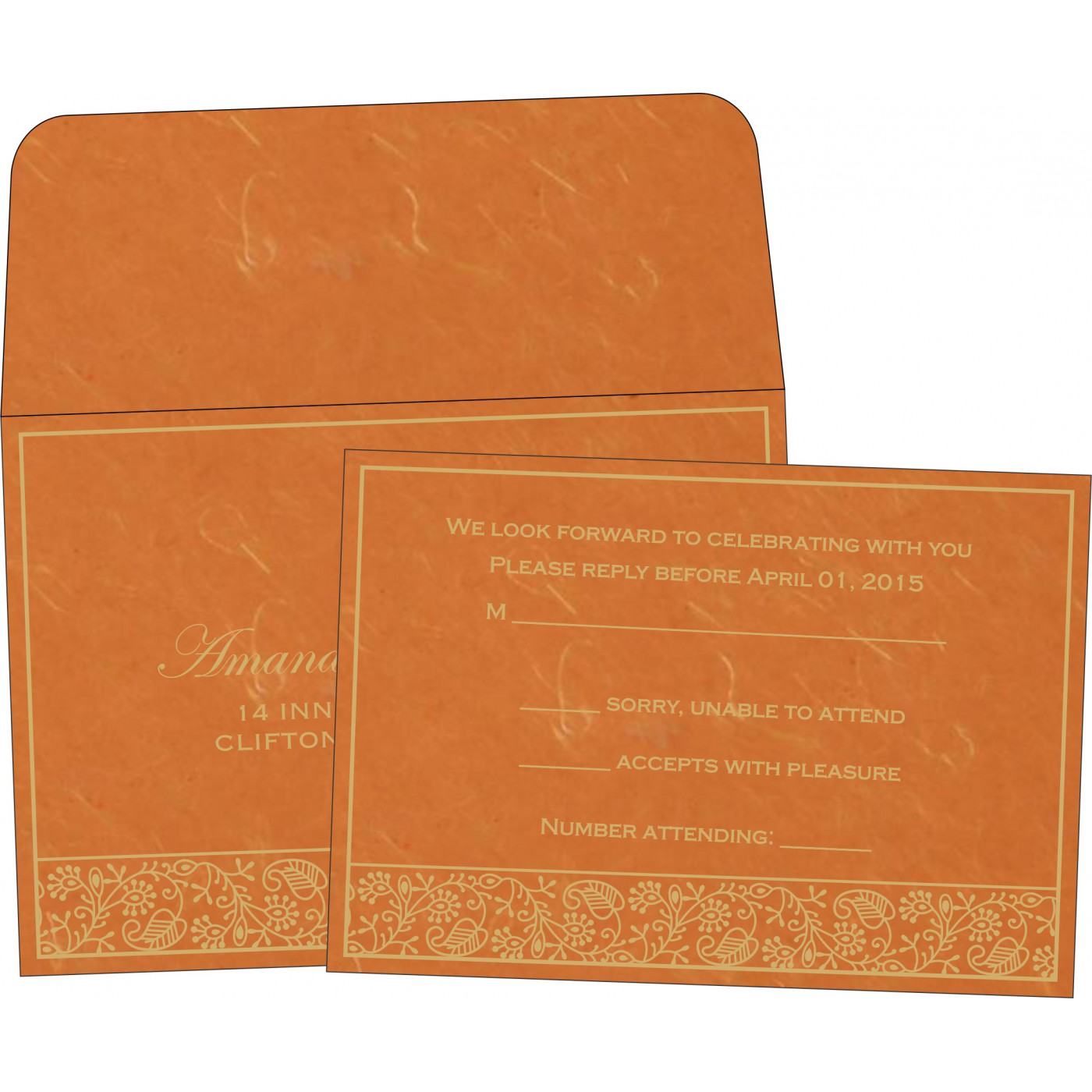 RSVP Cards : RSVP-8215L - 123WeddingCards
