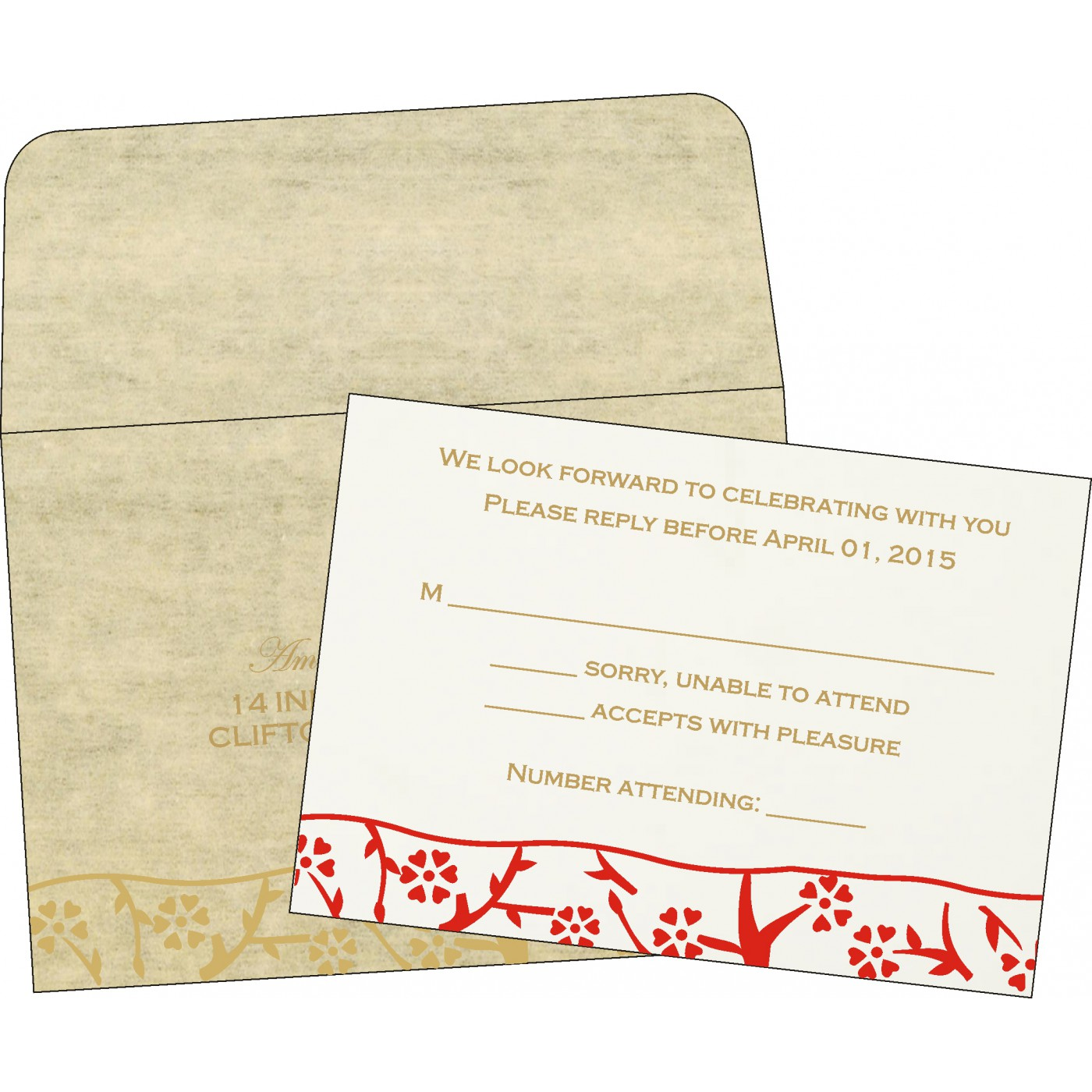 RSVP Cards : RSVP-8216A - 123WeddingCards