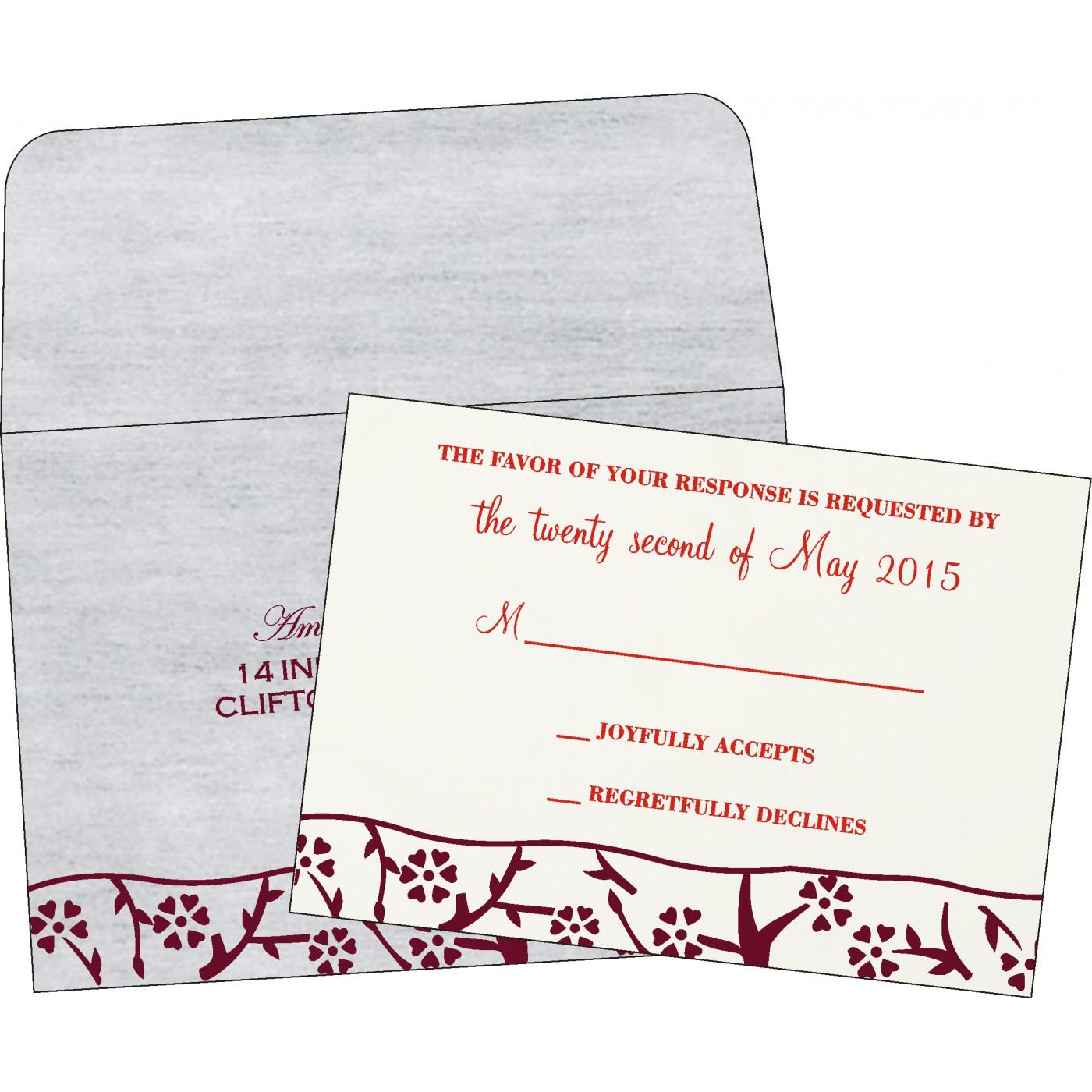 RSVP Cards : RSVP-8216B - 123WeddingCards