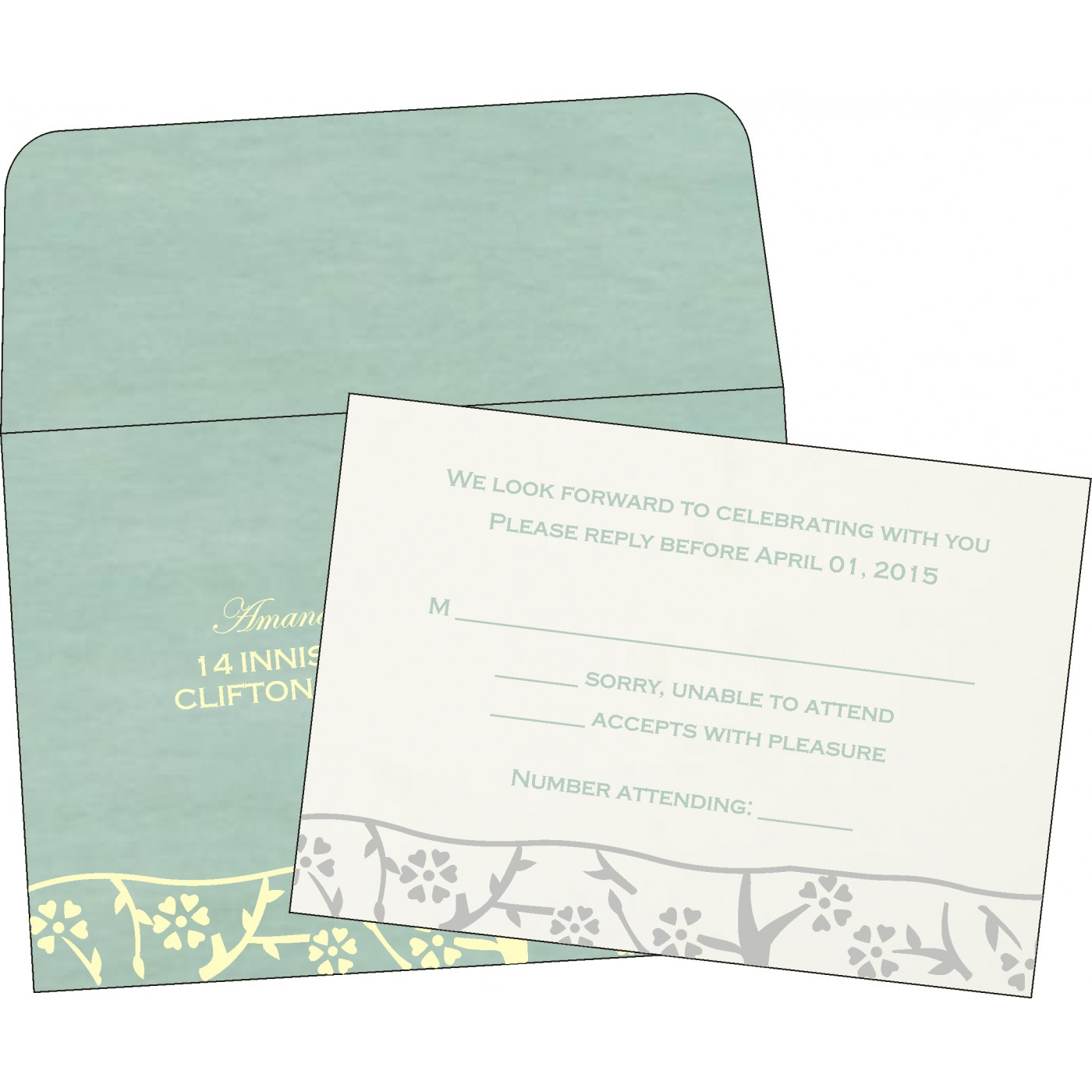 RSVP Cards : RSVP-8216F - 123WeddingCards