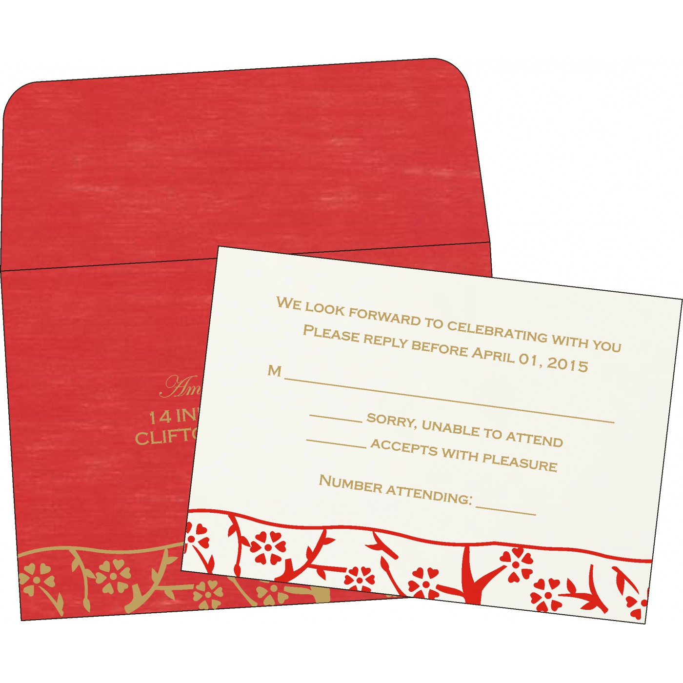 RSVP Cards : RSVP-8216L - 123WeddingCards