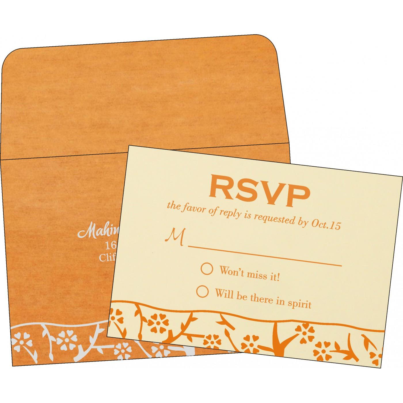 RSVP Cards : RSVP-8216O - 123WeddingCards