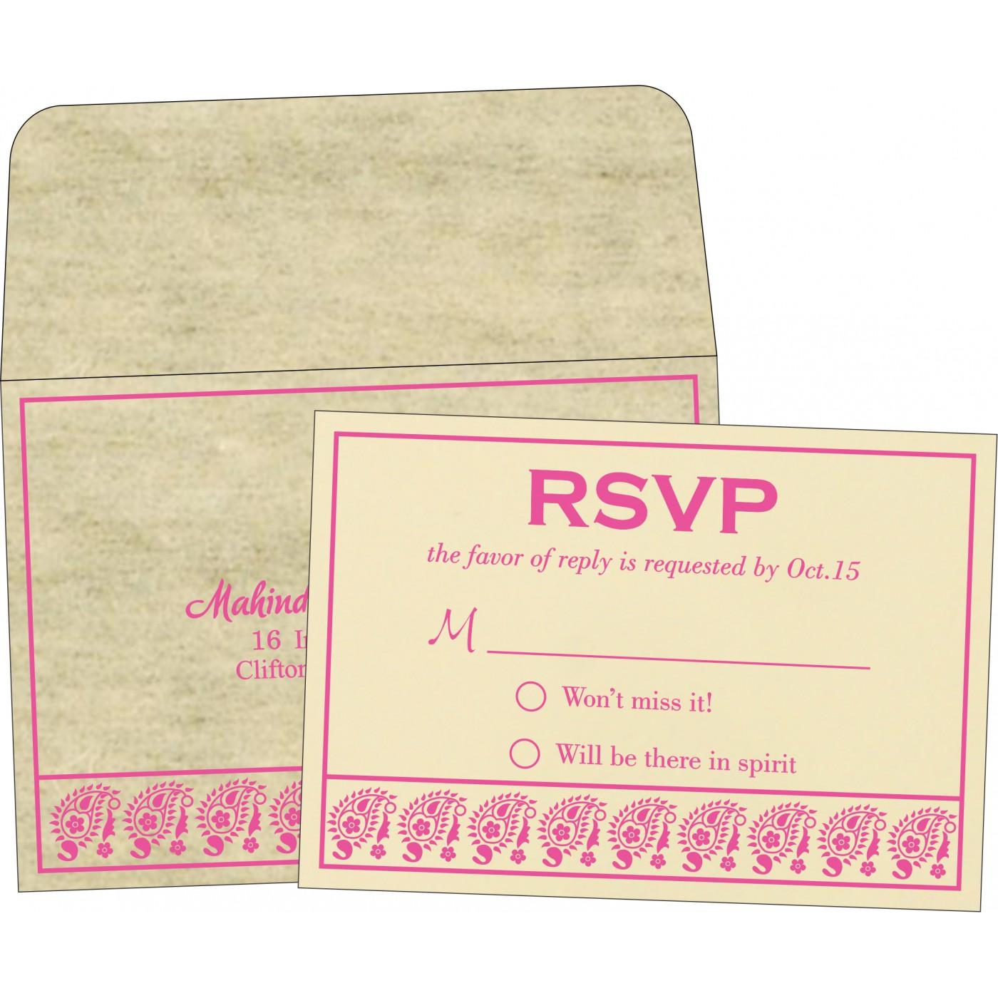 RSVP Cards : RSVP-8218F - 123WeddingCards