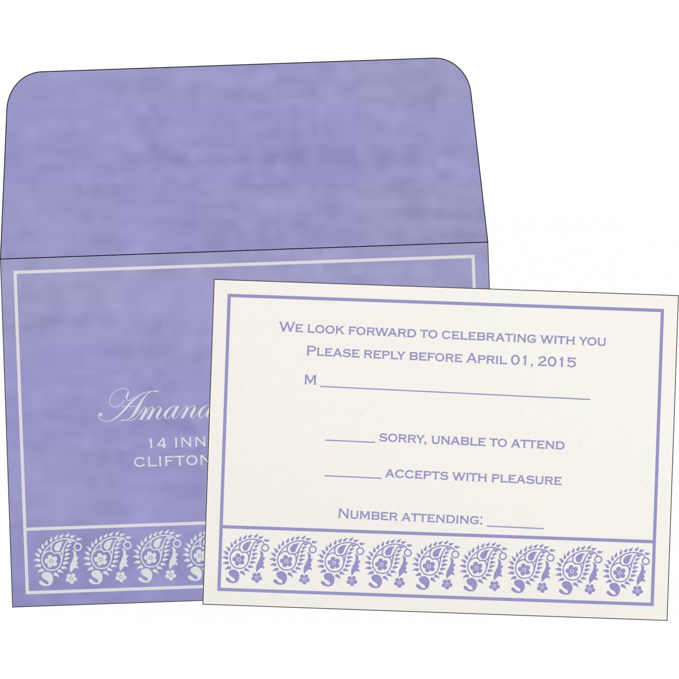 RSVP Cards : RSVP-8218H - 123WeddingCards