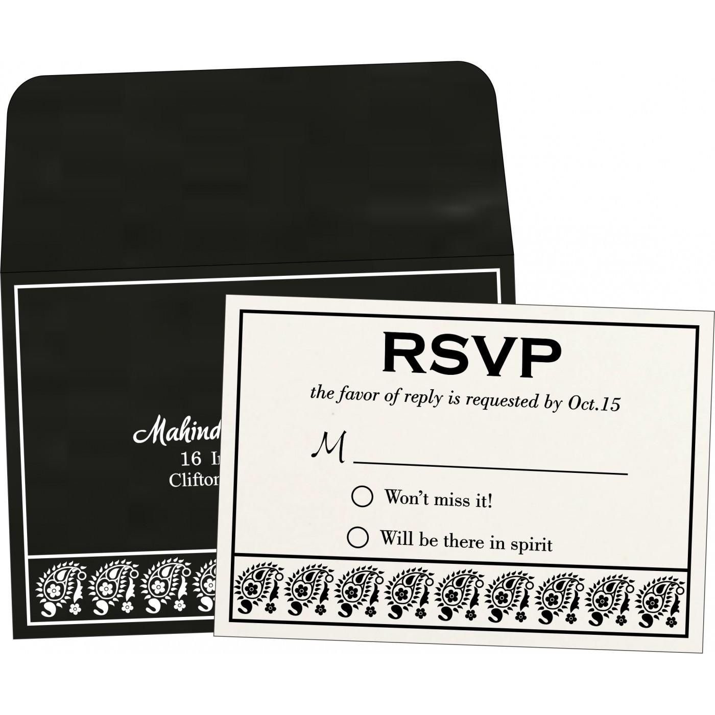 RSVP Cards : RSVP-8218L - 123WeddingCards