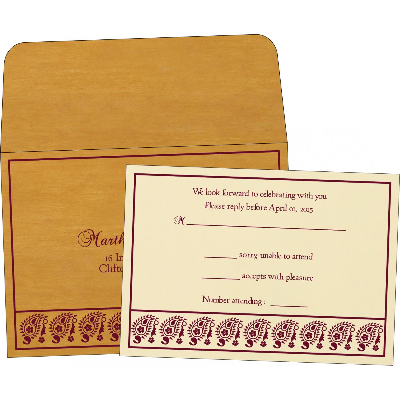 RSVP Cards : RSVP-8218N - 123WeddingCards