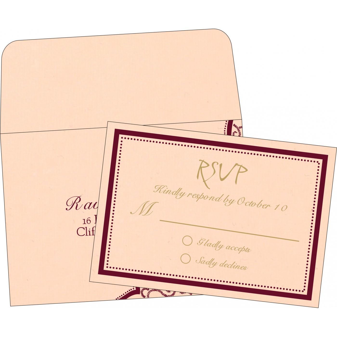 RSVP Cards : RSVP-8219D - 123WeddingCards