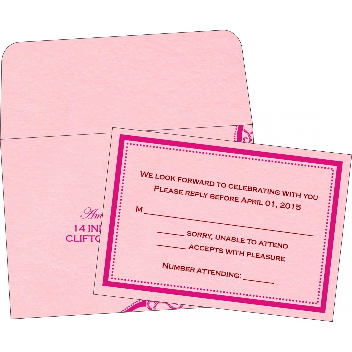 RSVP Cards : RSVP-8219K - 123WeddingCards