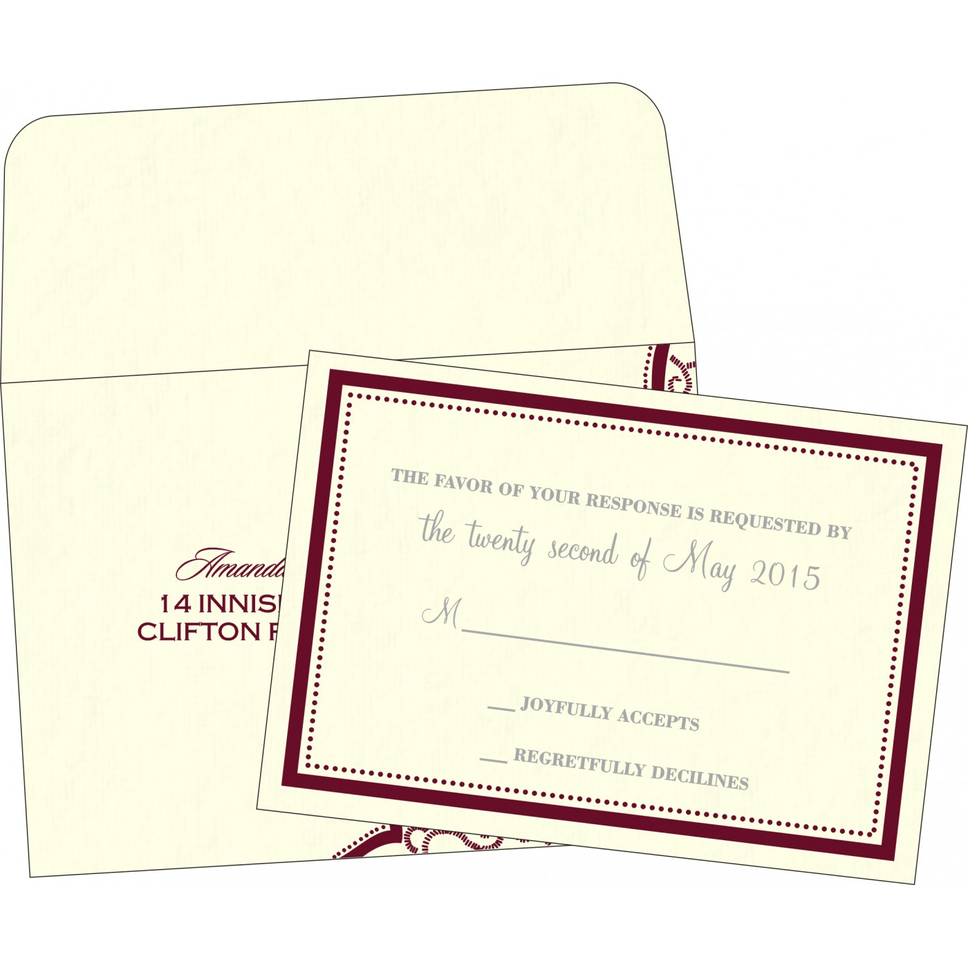 RSVP Cards : RSVP-8219L - 123WeddingCards