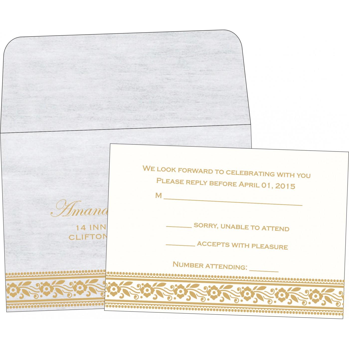 RSVP Cards : RSVP-8220D - 123WeddingCards