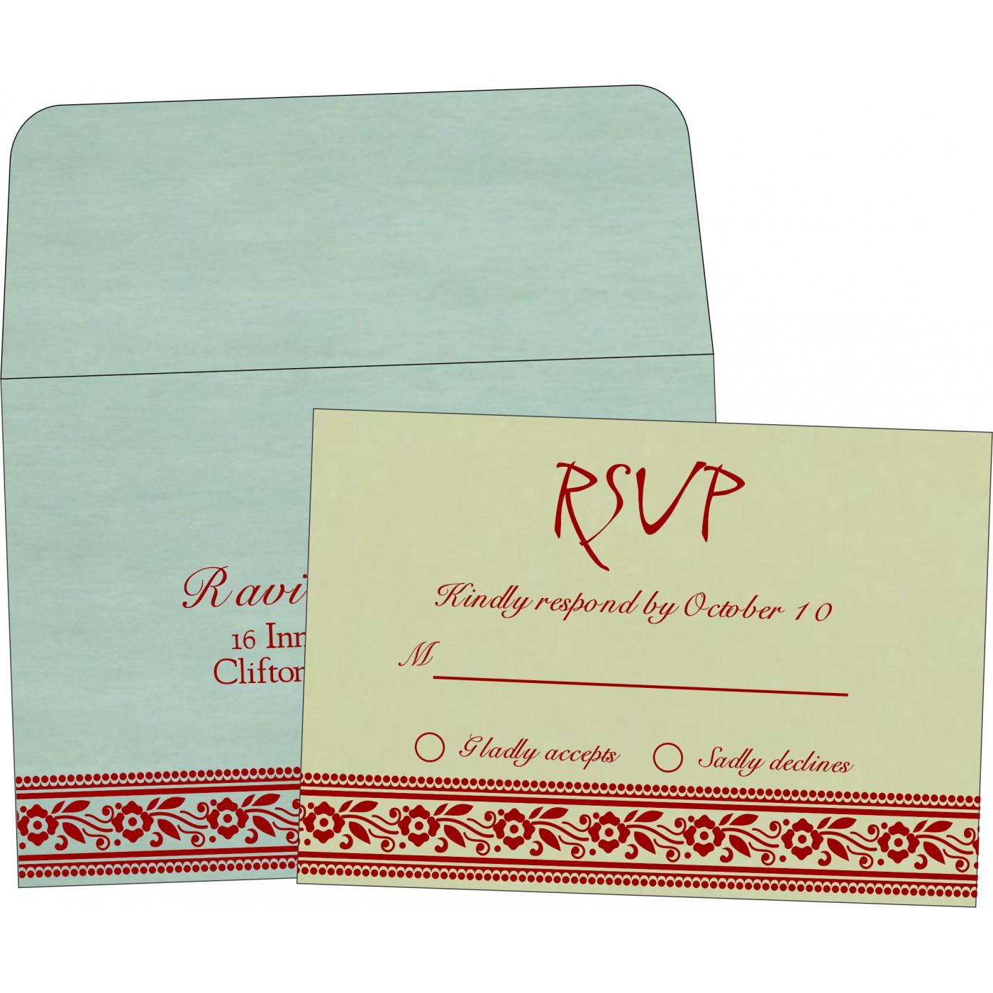 RSVP Cards : RSVP-8220G - 123WeddingCards