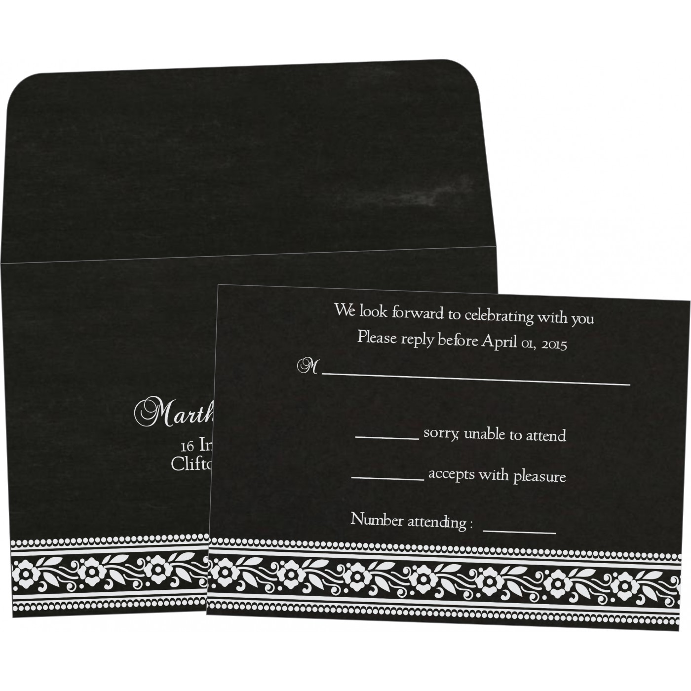 RSVP Cards : RSVP-8220K - 123WeddingCards