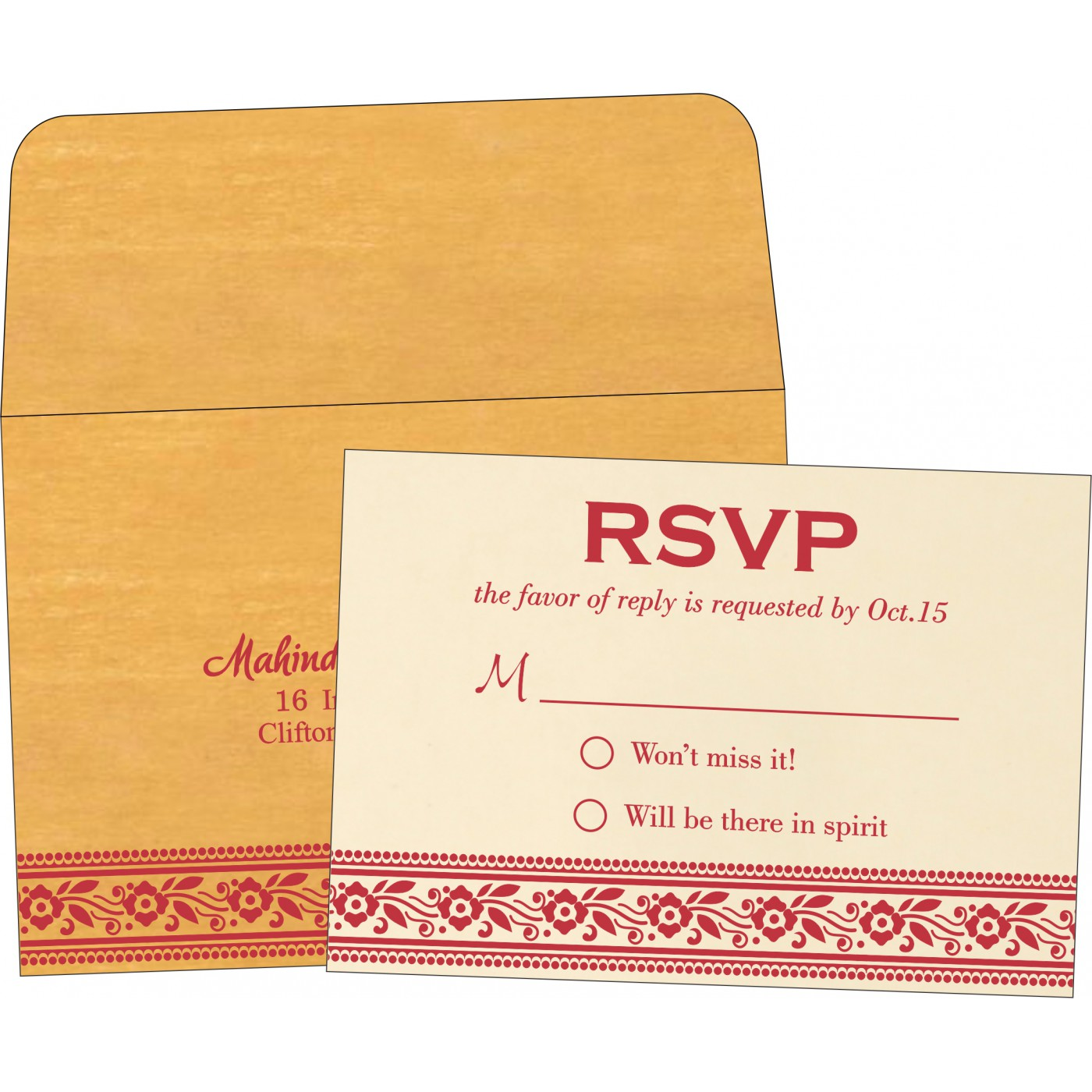 RSVP Cards : RSVP-8220O - 123WeddingCards