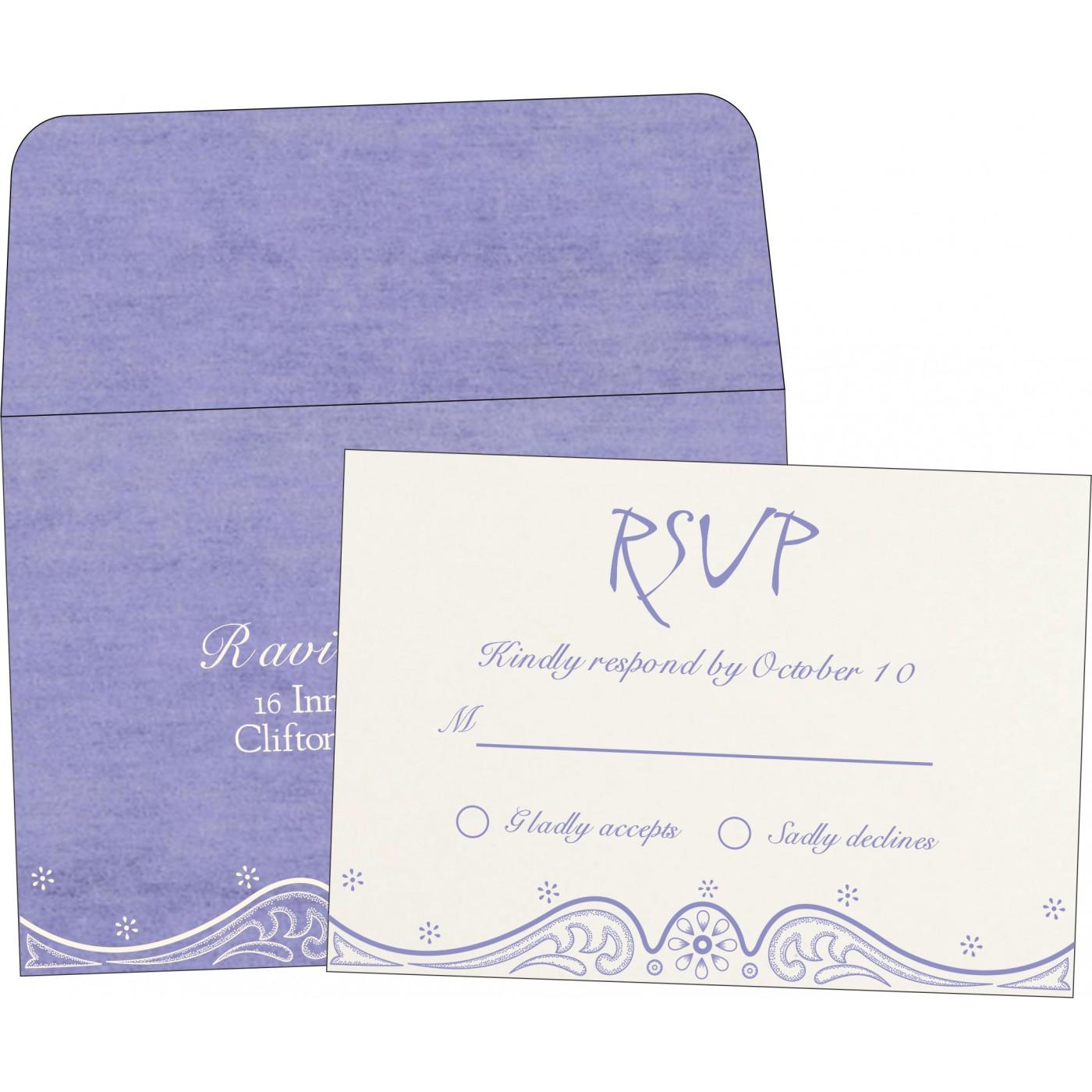RSVP Cards : RSVP-8221E - 123WeddingCards