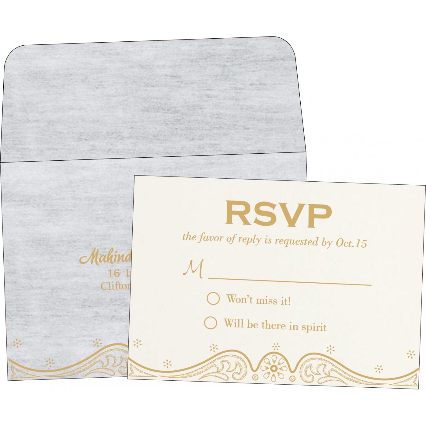RSVP Cards : RSVP-8221G - 123WeddingCards