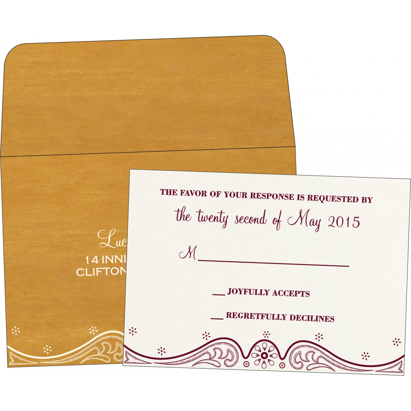 RSVP Cards : RSVP-8221H - 123WeddingCards
