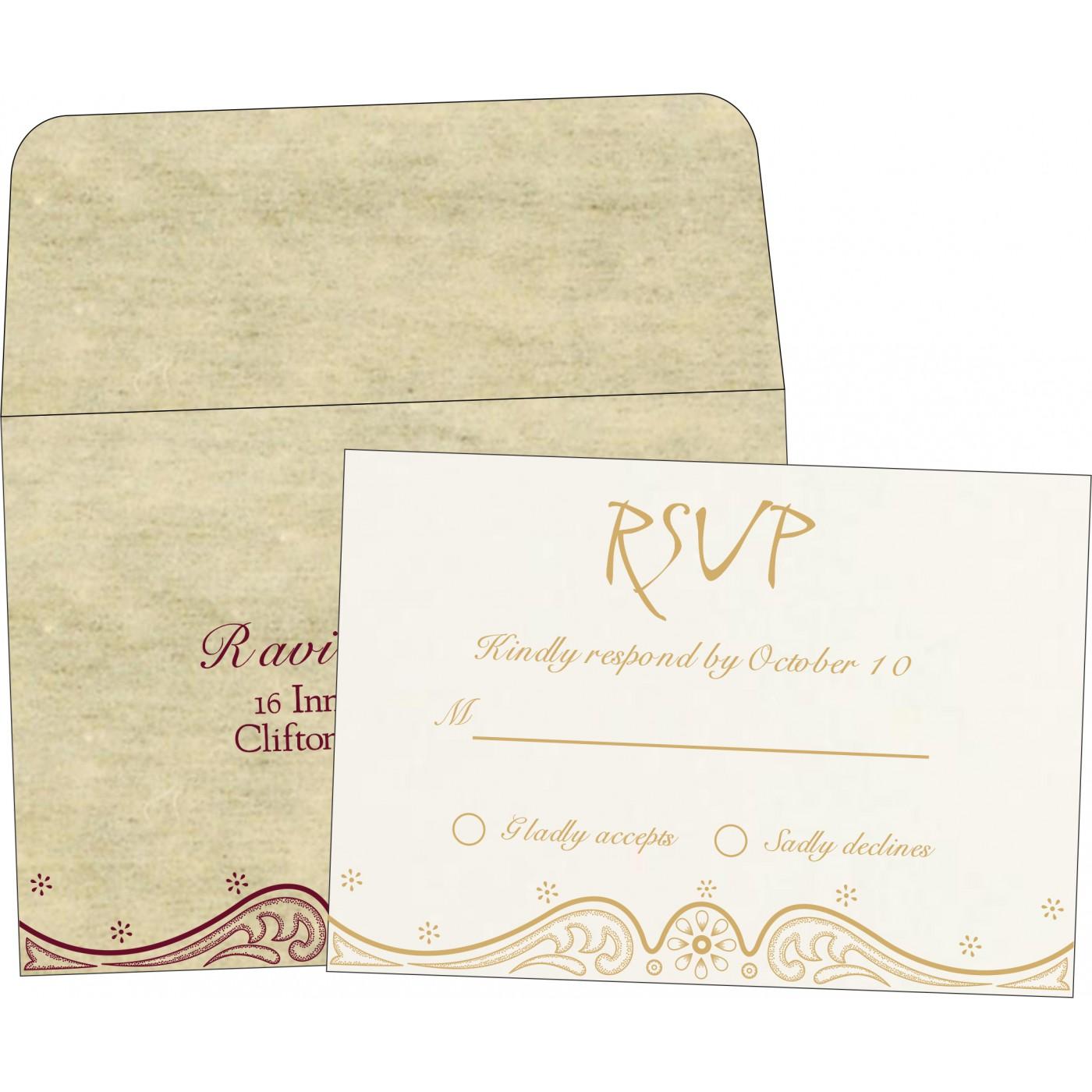 RSVP Cards : RSVP-8221K - 123WeddingCards