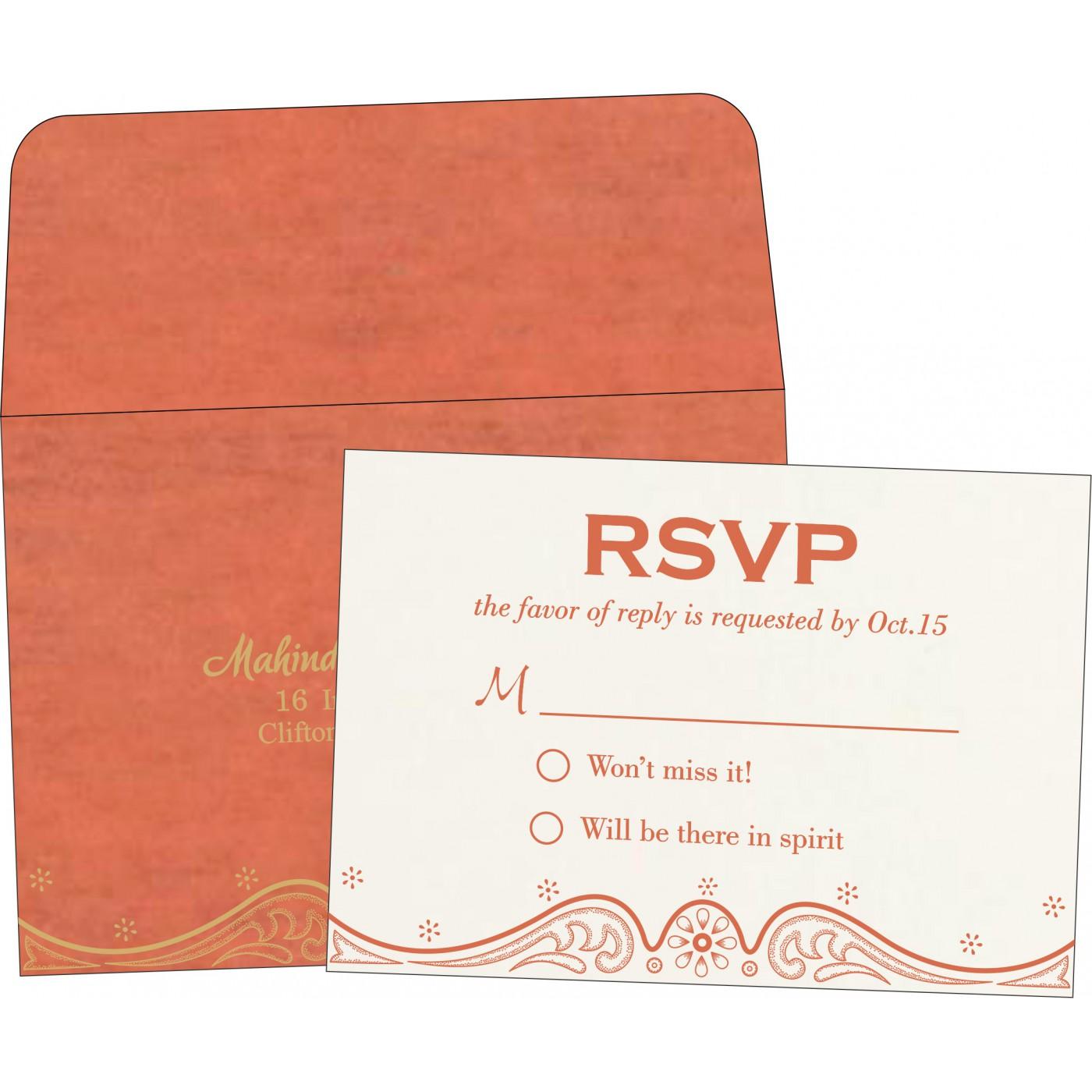 RSVP Cards : RSVP-8221L - 123WeddingCards